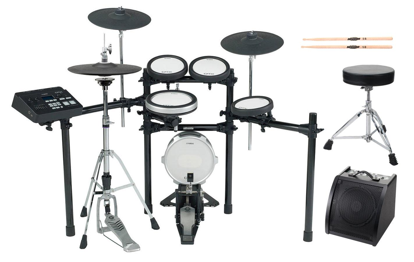 Yamaha DTX720K E Drum Kit SET 2 mit Hocker, Sticks und Drummonitor
