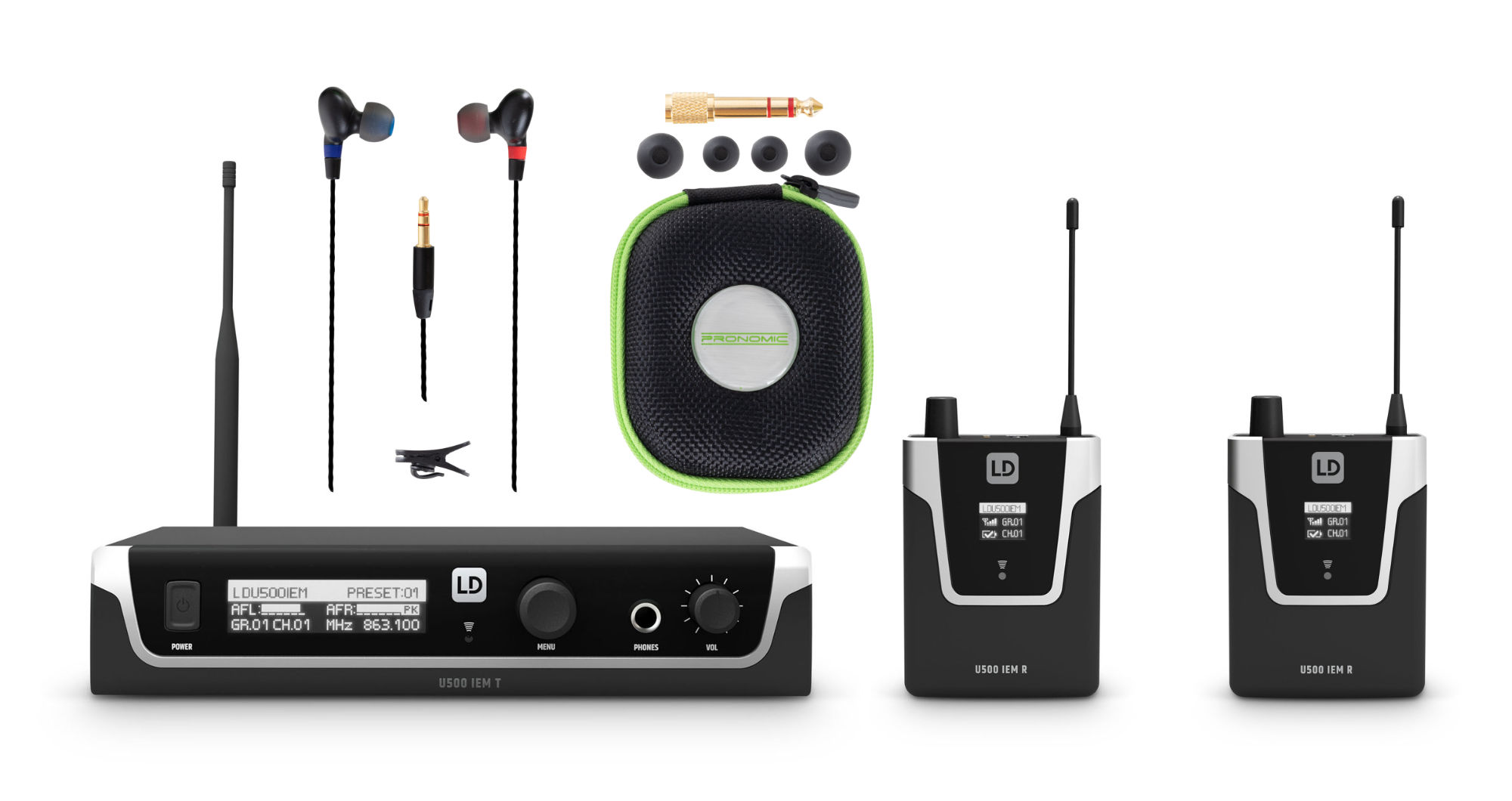 Drahtlossysteme - LD Systems U508 IEM In Ear Monitoring System Doppel Set 2 - Onlineshop Musikhaus Kirstein
