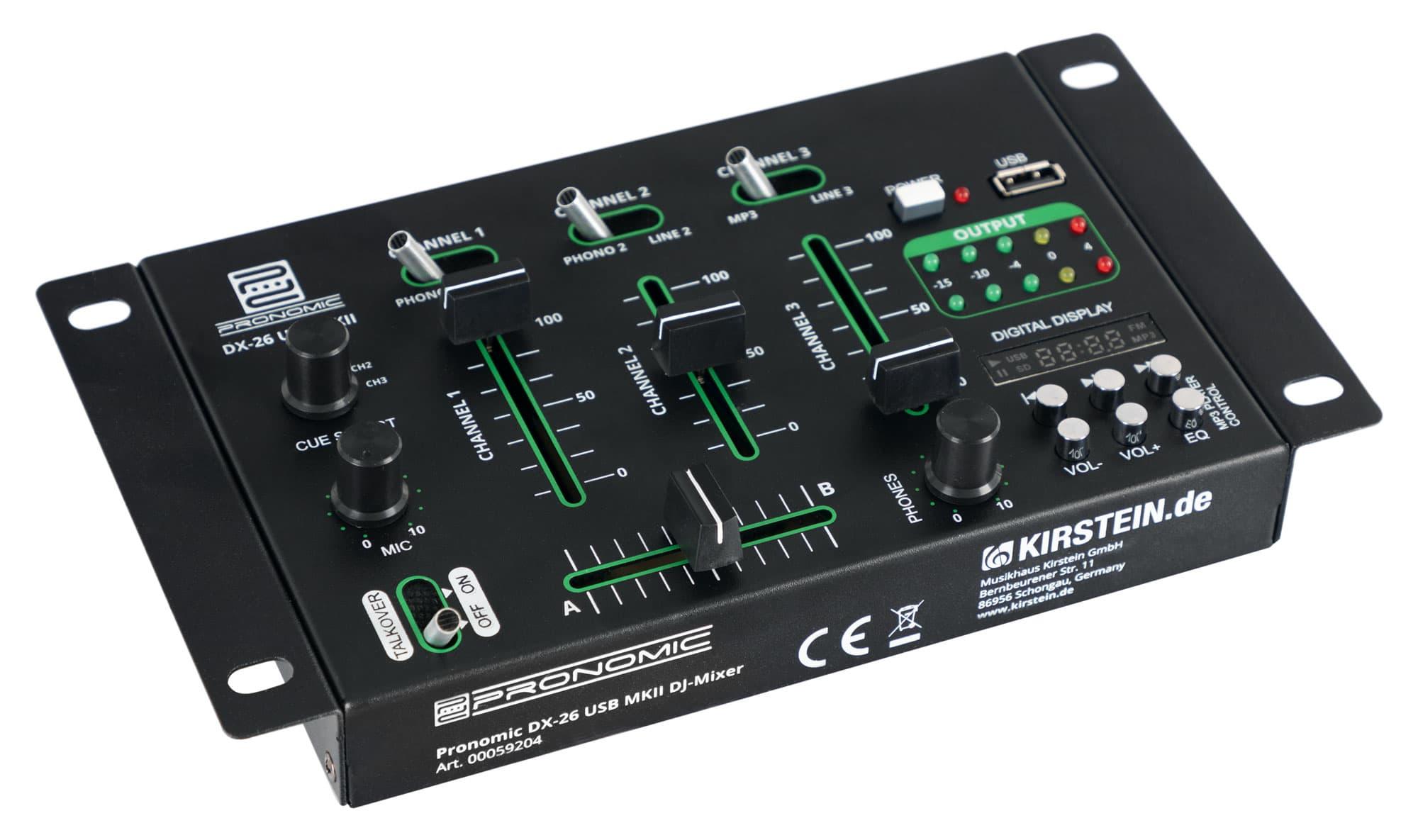 Djmixer - Pronomic DX 26 USB MKII DJ Mixer - Onlineshop Musikhaus Kirstein