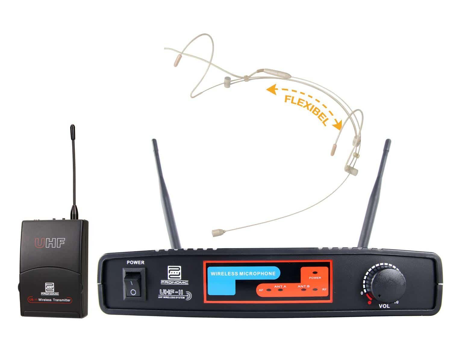 Pronomic UBF 11 Pro Sport XT Funkset (Headset) K9