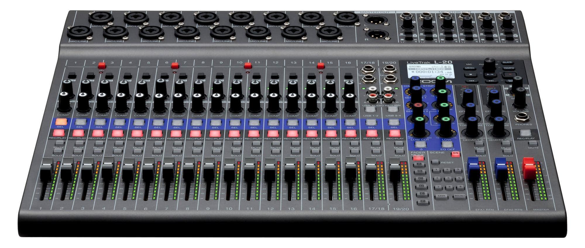 Recording - Zoom LiveTrak L 20 - Onlineshop Musikhaus Kirstein