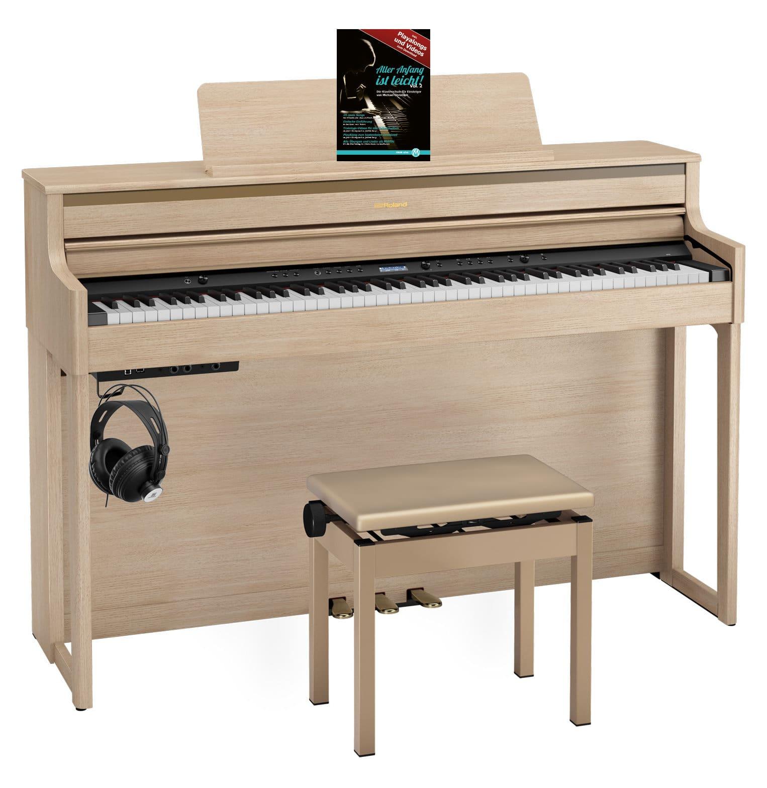 Roland HP704 LA Digitalpiano Set helle Eiche