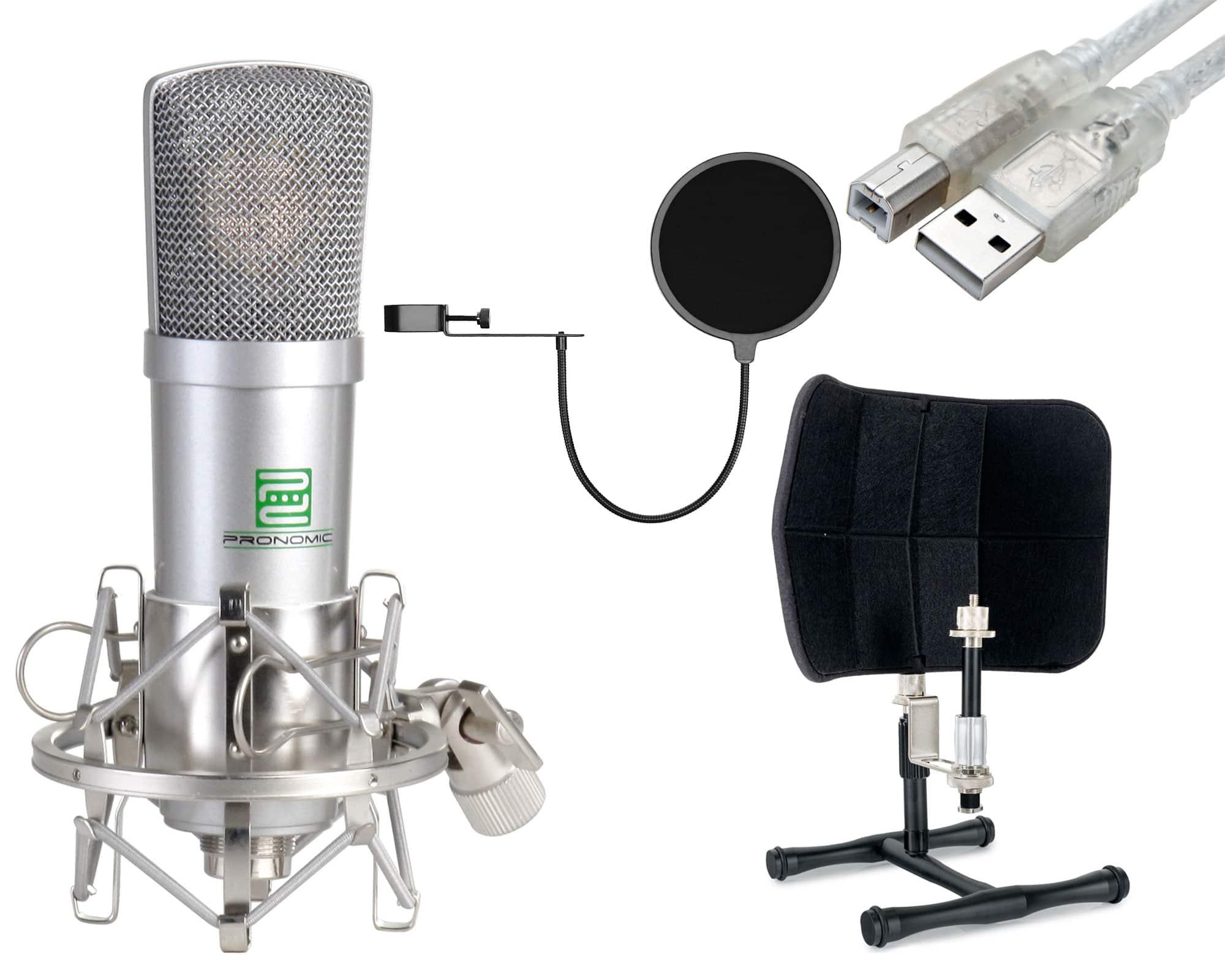 Mikrofone - Pronomic USB M 910 Desktop Podcast Bundle - Onlineshop Musikhaus Kirstein