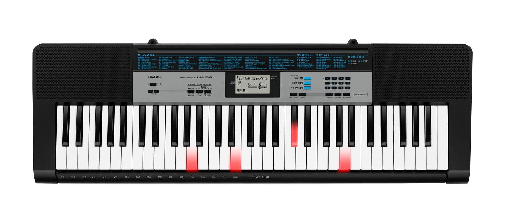 Casio LK 136 Leuchttasten Keyboard