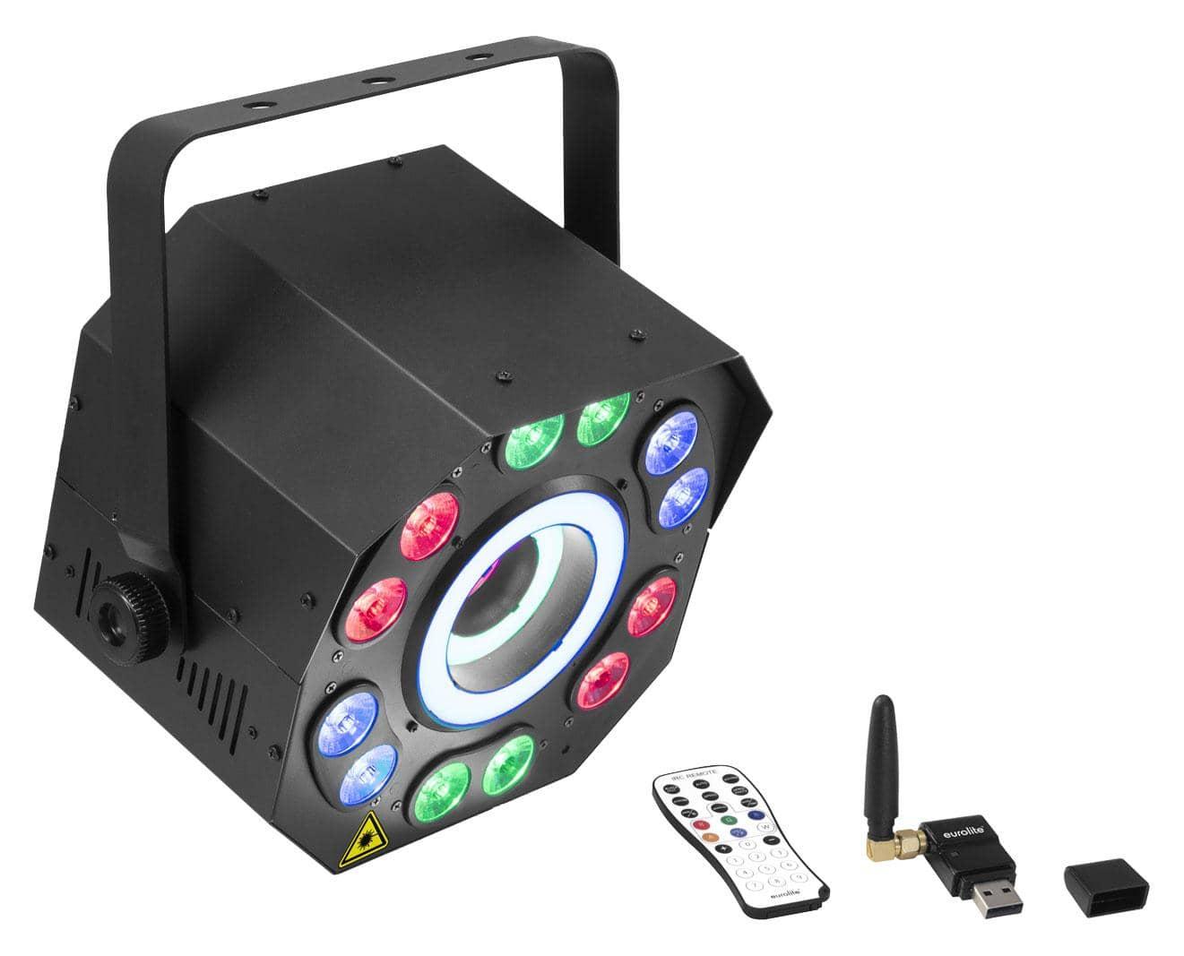 Lichtsets - Eurolite LED FE 2500 Hypno Hybrid Lasereffekt QuickDMX Set - Onlineshop Musikhaus Kirstein