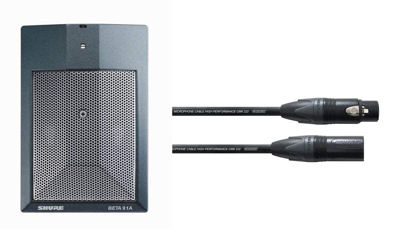 Shure Beta 91A Mikrofon Set Kabel