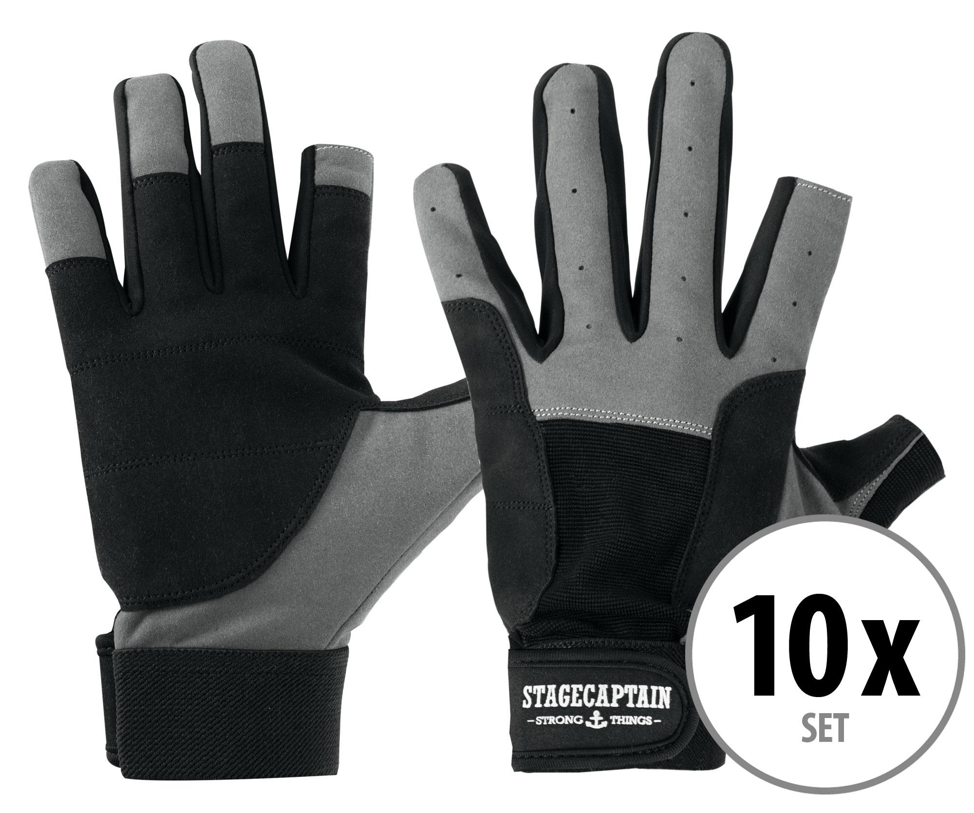 10er Set Stagecaptain Rigger Handschuhe M kurz