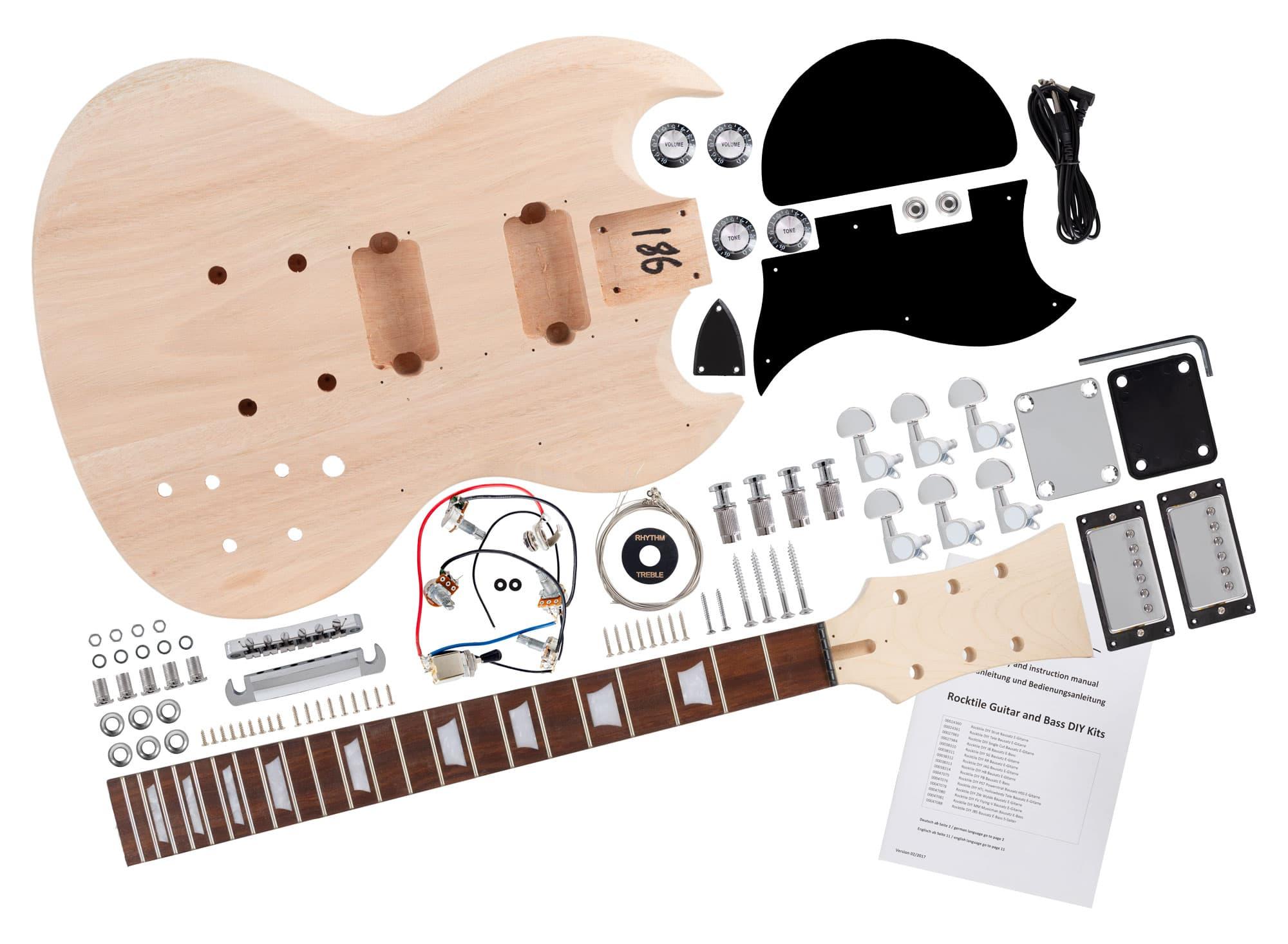 Rocktile E Gitarren Bausatz Double Cut Style Retoure (Zustand sehr gut)