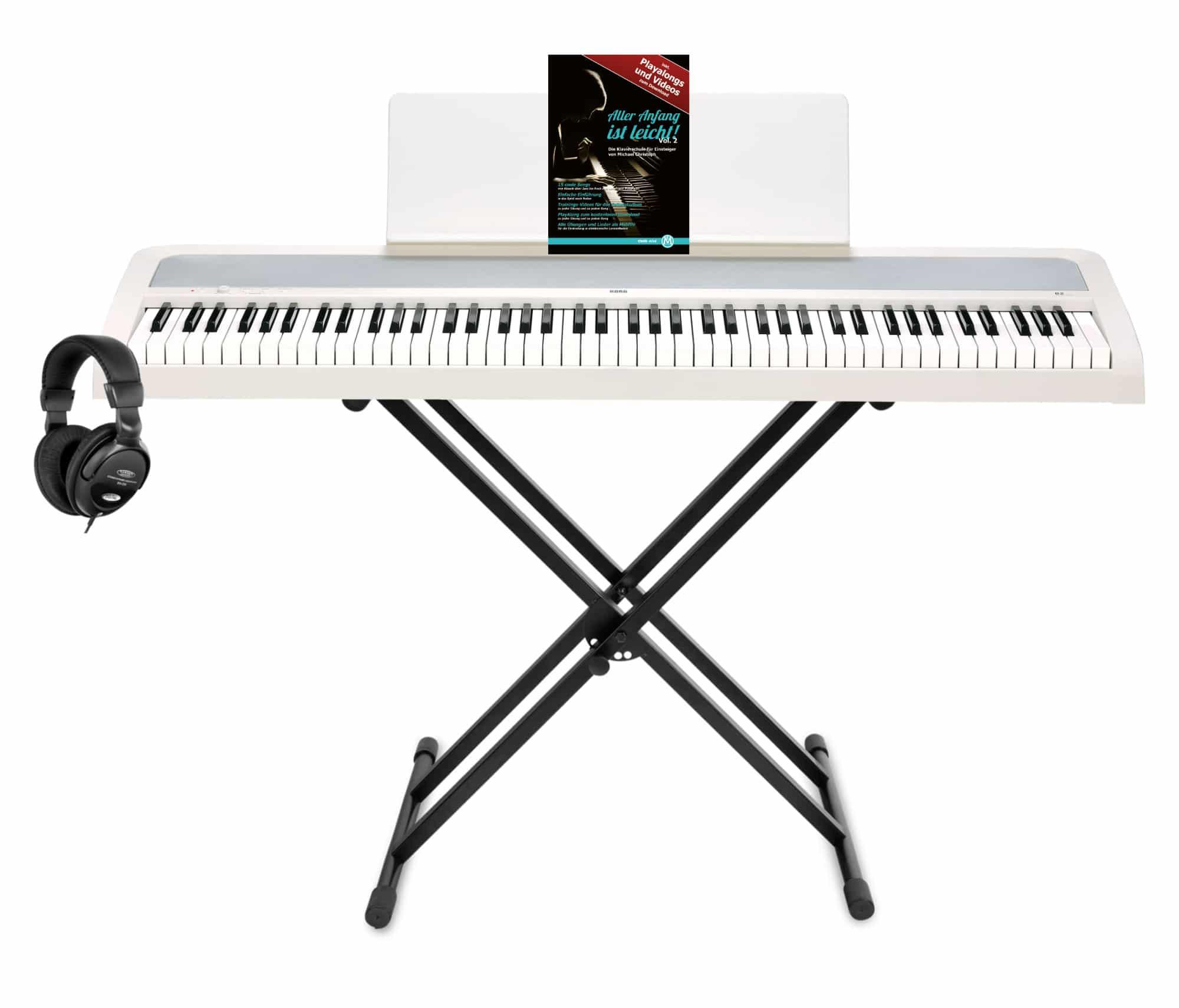 Stagepianos - Korg B2 WH Digitalpiano Set Weiß - Onlineshop Musikhaus Kirstein