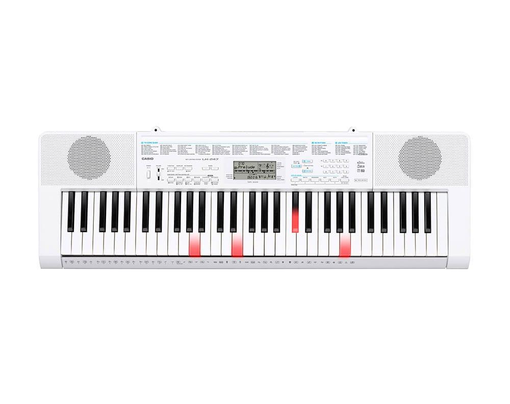 Casio LK 247 Leuchttasten Keyboard 61 Tasten, Mikrofoneingang, USB, Sampling