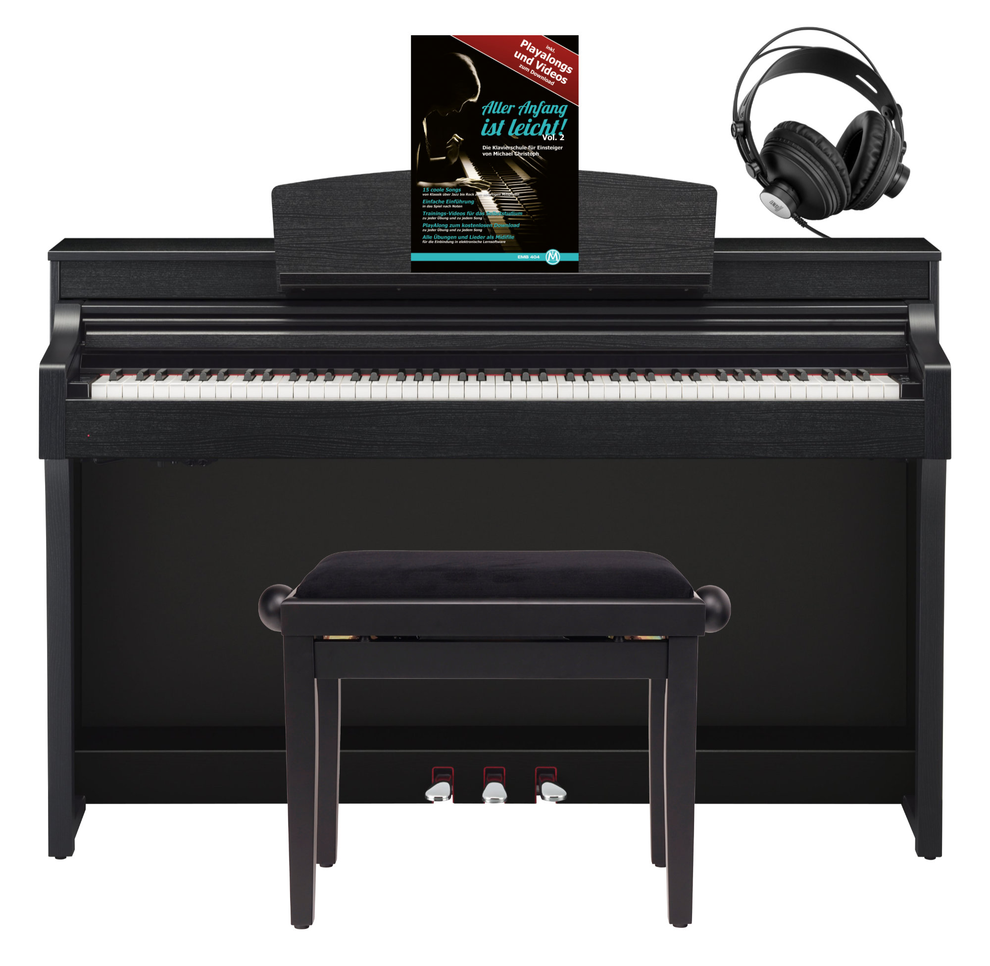 yamaha csp 170 b digitalpiano schwarz matt set mit. Black Bedroom Furniture Sets. Home Design Ideas
