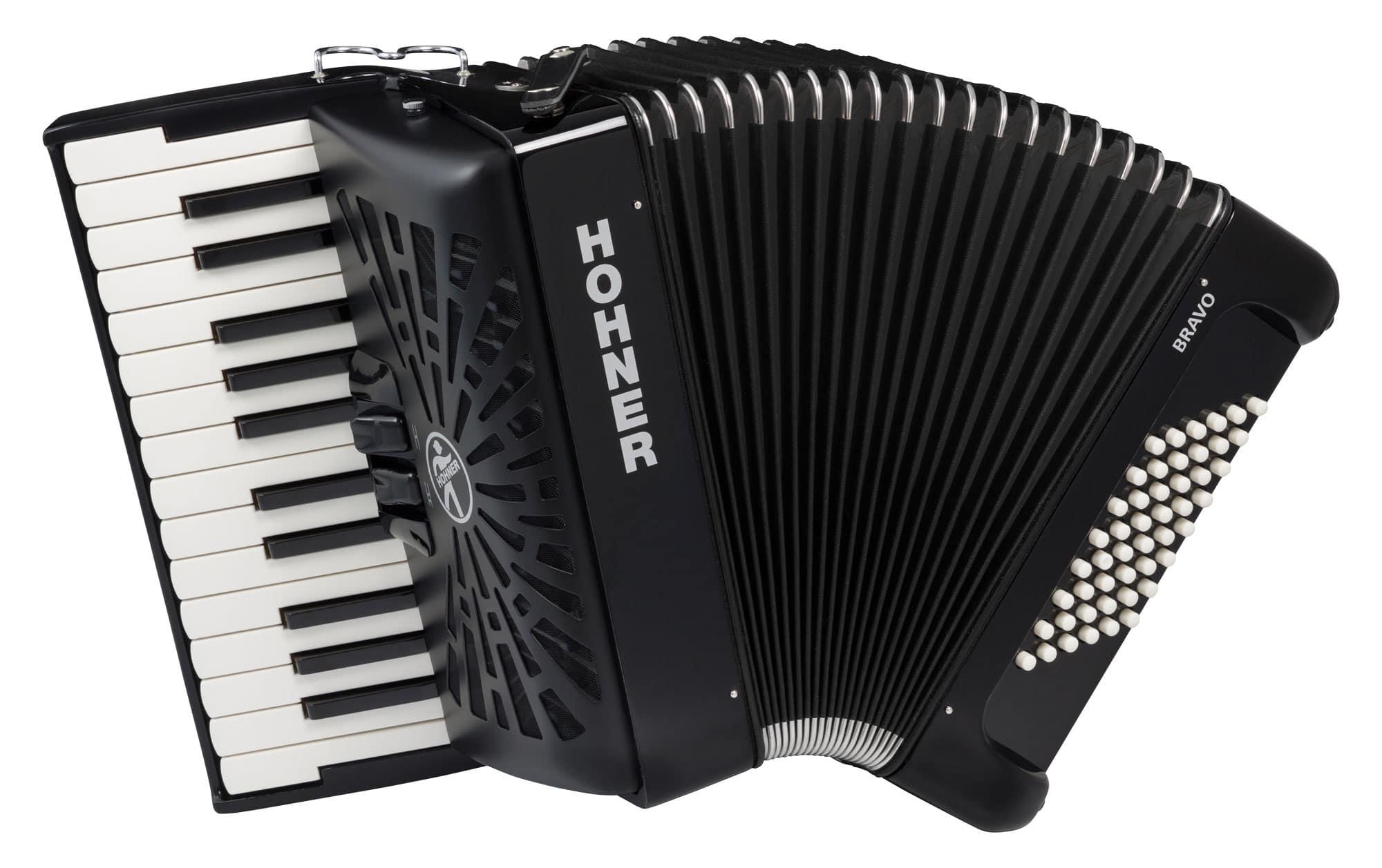 Hohner Bravo II 48 silent key schwarz