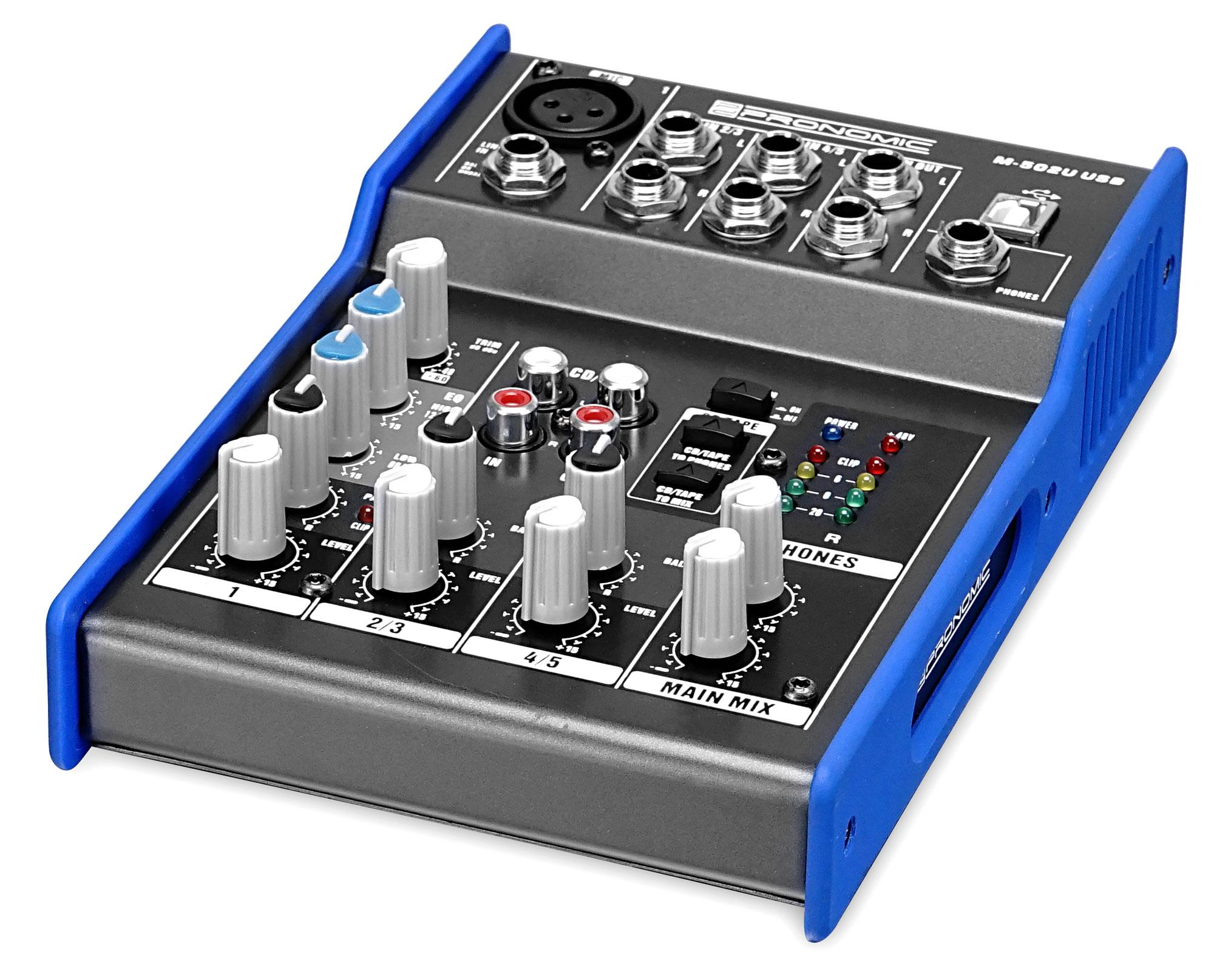Pronomic m 502u usb mini table de mixage - Table de mixage professionnelle studio ...