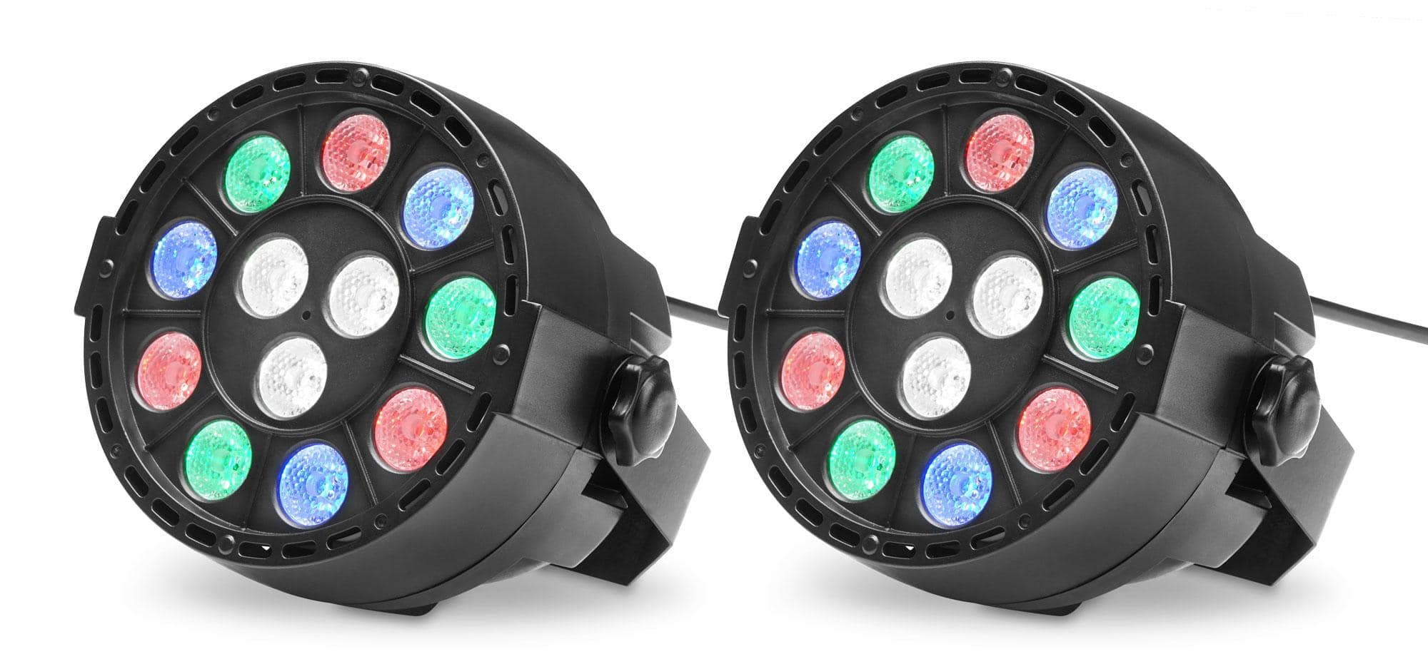 Showlite SPS 121 LED Smart Party Spot 12x 1W RGBW 2er Set