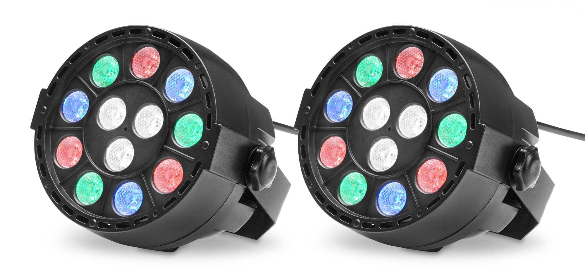 Lichtsets - Showlite SPS 121 LED Smart Party Spot 12x 1W RGBW 2er Set - Onlineshop Musikhaus Kirstein