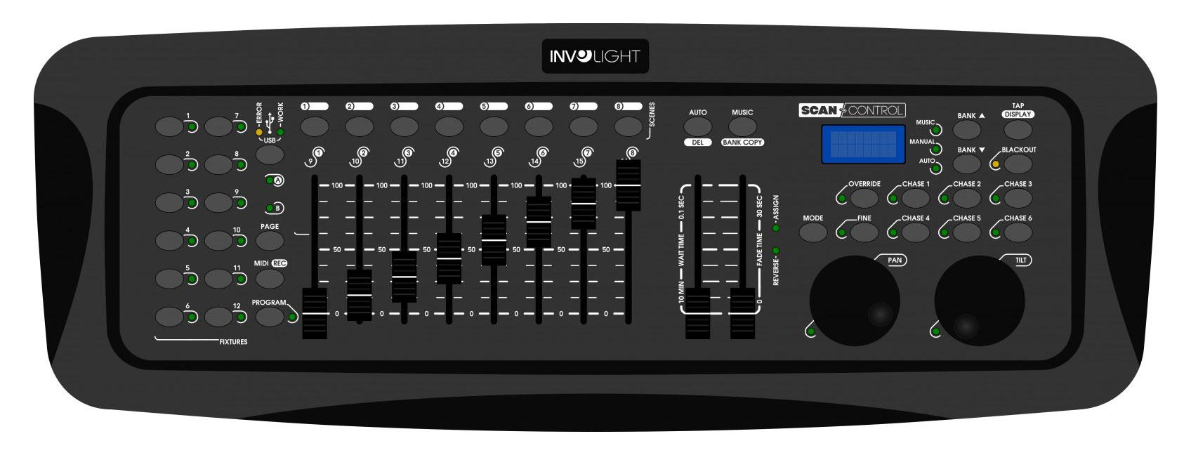 Lichtsteuerung - Involight ScanControl DMX 512 Controller - Onlineshop Musikhaus Kirstein