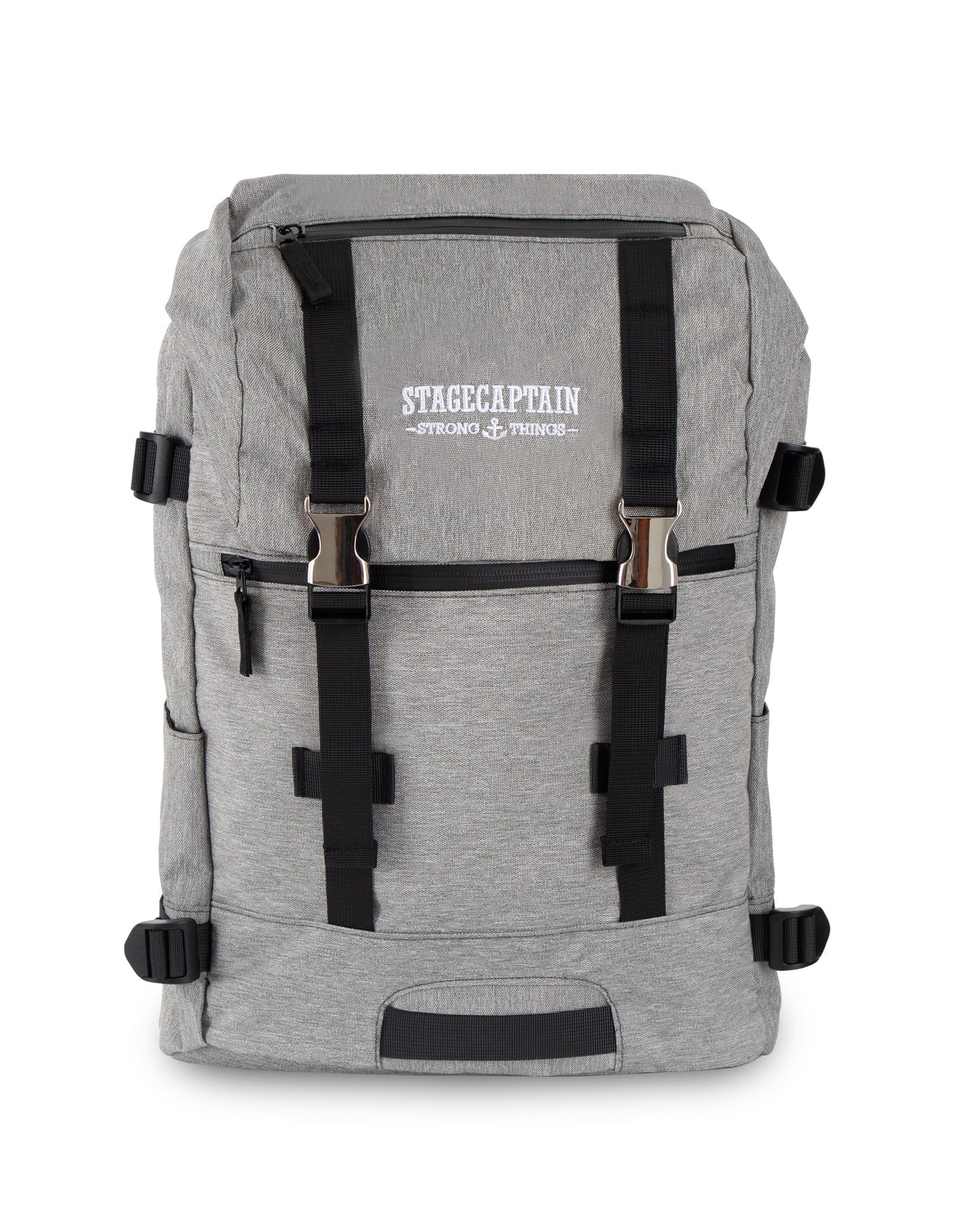 Sac-a-Dos-Backpack-Bandouliere-Ordinateur-Laptop-Ecole-Voyage-Unisexe-Gris
