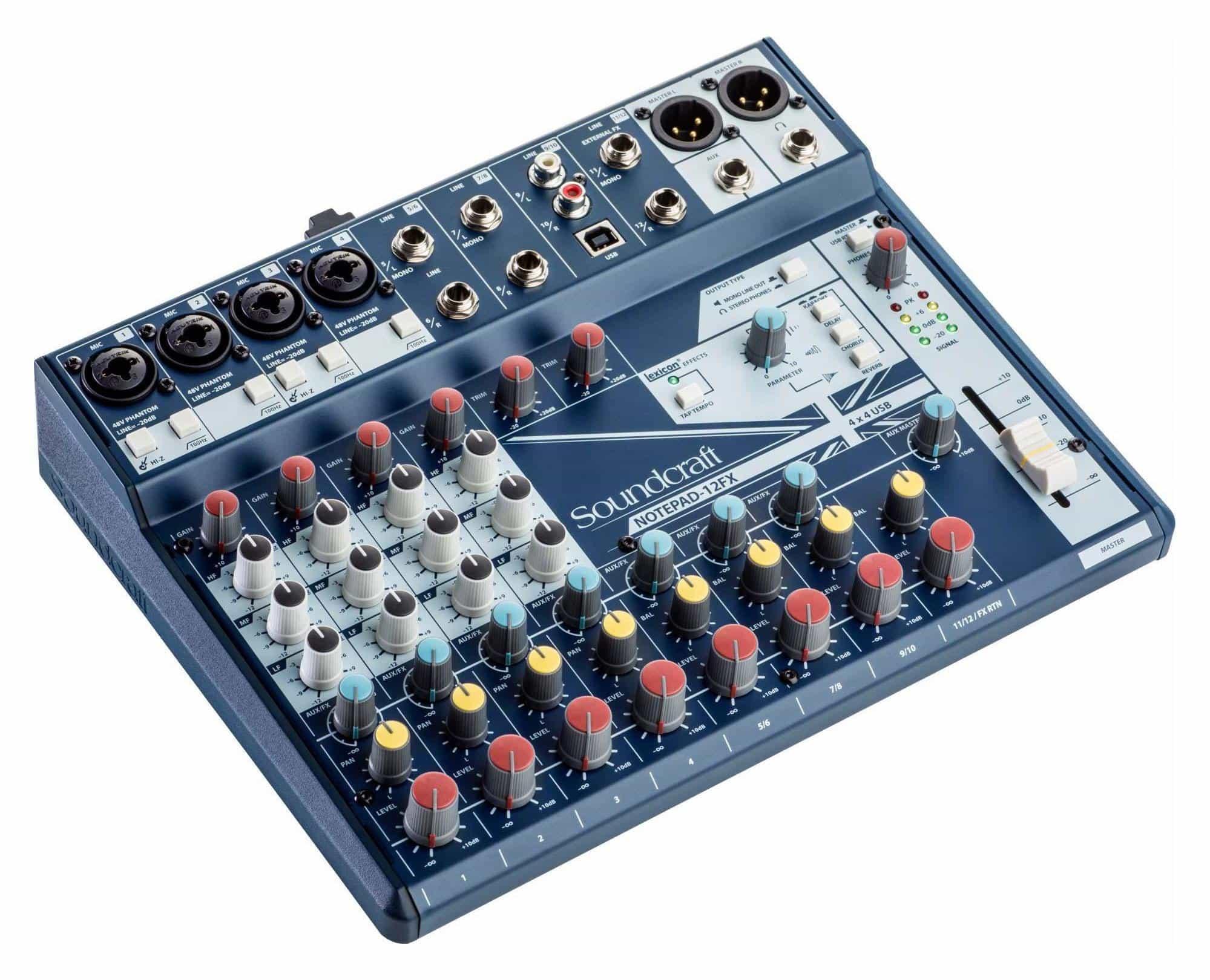 Mischpulte - Soundcraft Notepad 12FX Kompaktmischpult - Onlineshop Musikhaus Kirstein