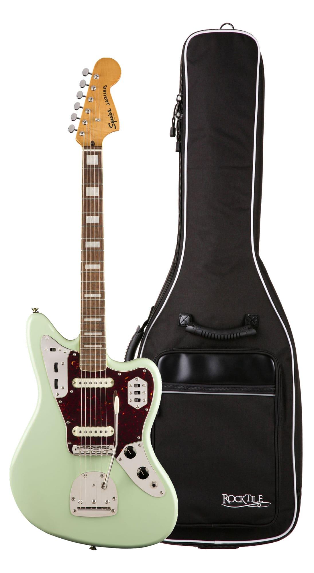 Egitarren - Fender Squier Classic Vibe '70s Jaguar LRL SFG Gigbag Set - Onlineshop Musikhaus Kirstein