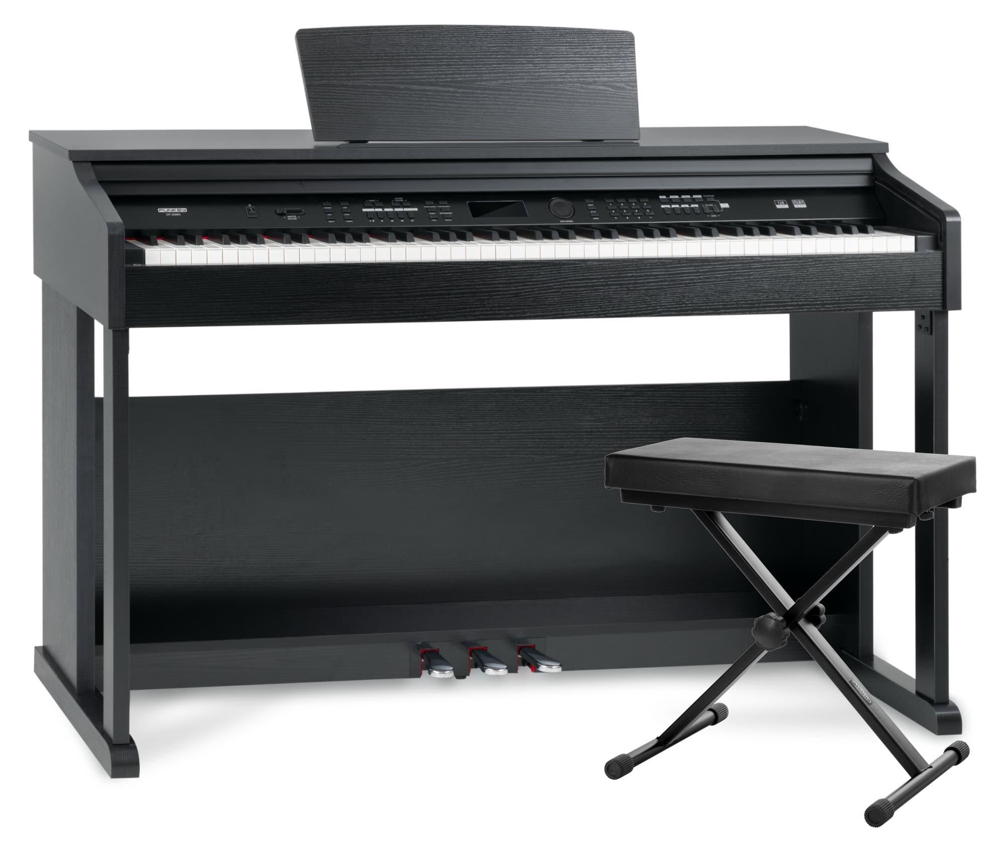 Digitalpianos - FunKey DP 2688A SM Digitalpiano schwarz matt Bank Set - Onlineshop Musikhaus Kirstein