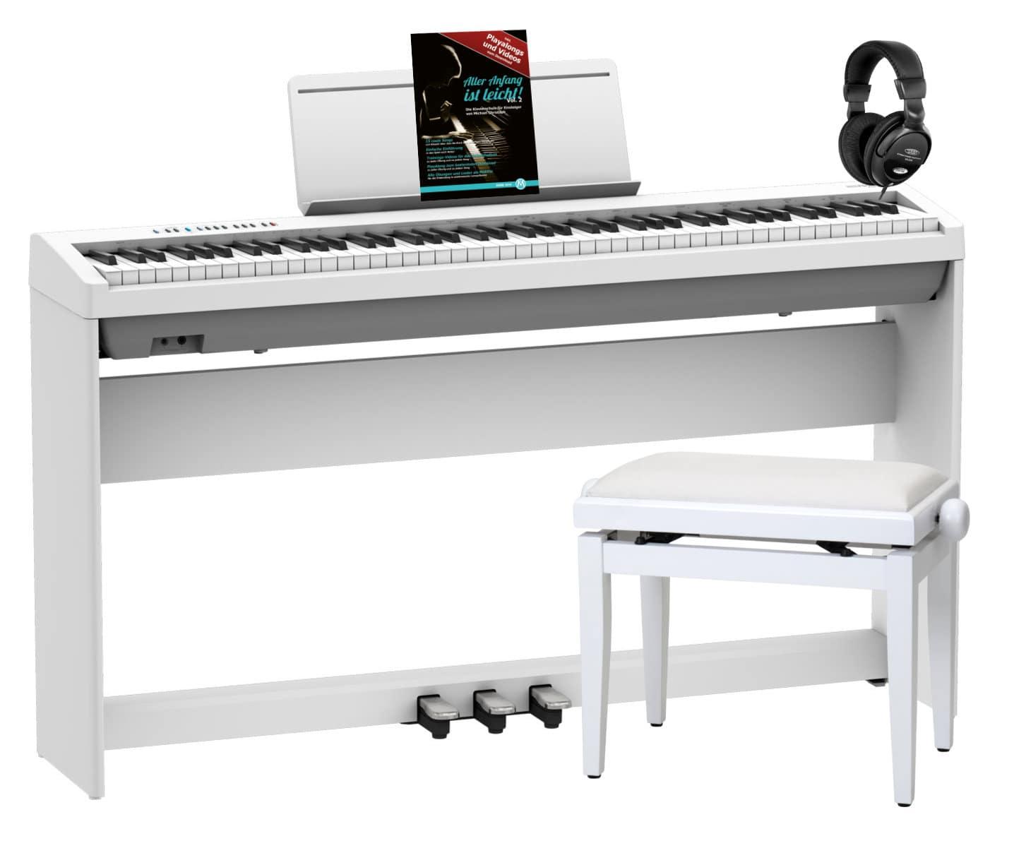 Digitalpianos - Roland FP 30X WH Stagepiano Home Set Weiß - Onlineshop Musikhaus Kirstein