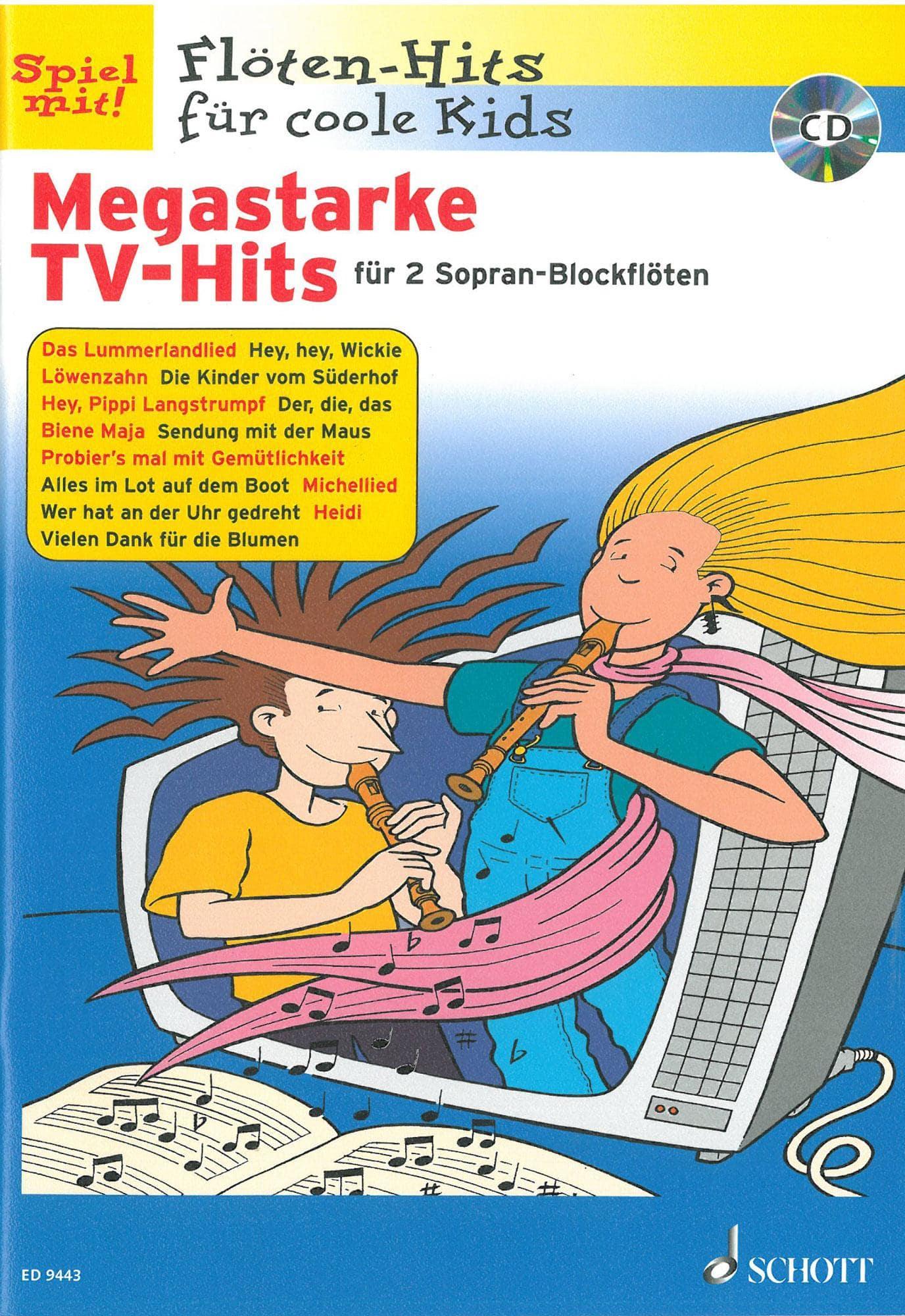 Floetelernen - Megastarke TV Hits für 2 Sopran Blockflöten - Onlineshop Musikhaus Kirstein