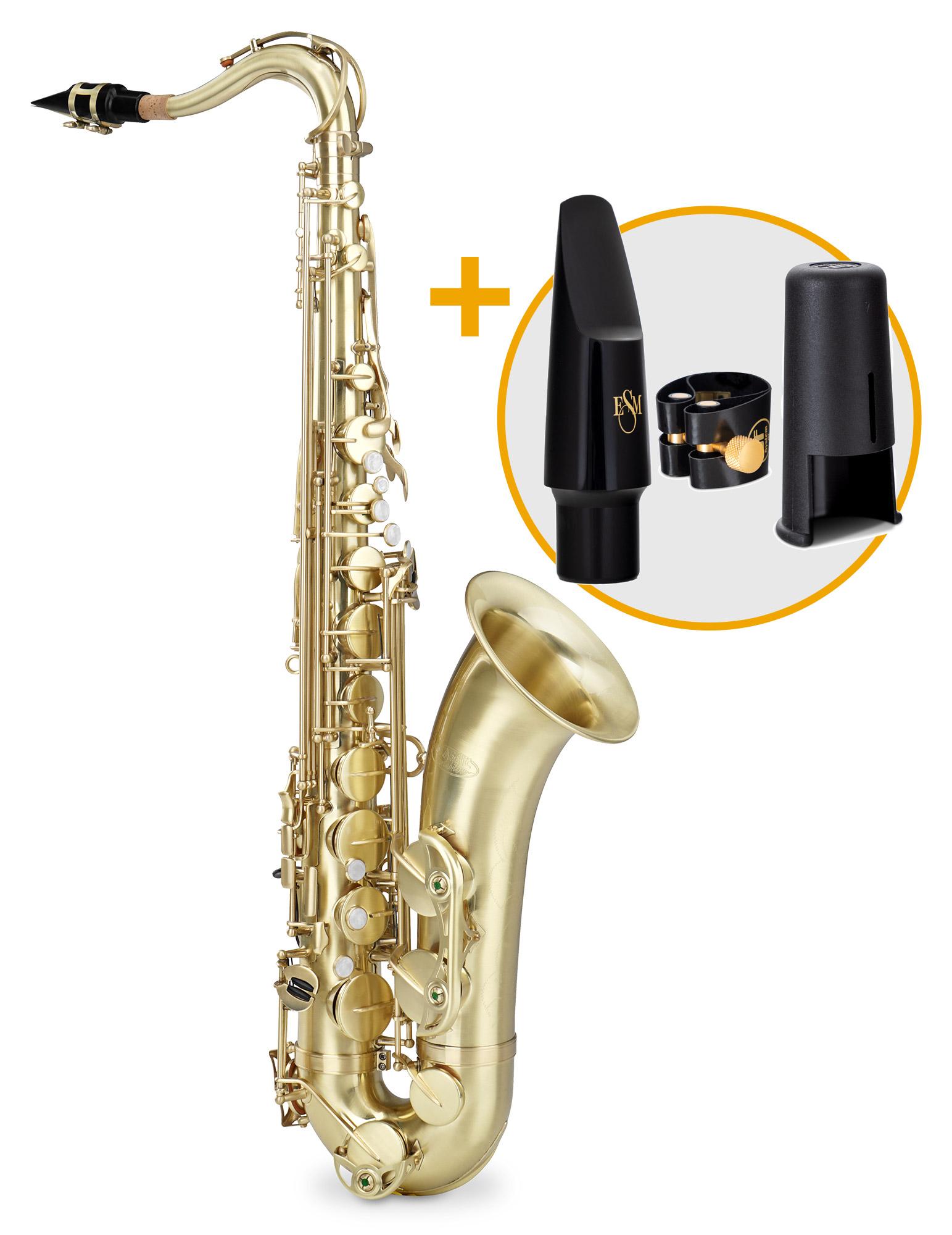Saxophone - Classic Cantabile TS 450 Brushed Bb Tenorsaxophon ESM Set - Onlineshop Musikhaus Kirstein