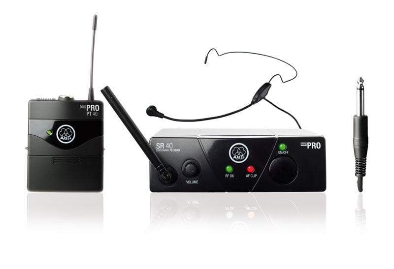 AKG WMS 40 Mini Komplettset ISM2 inkl. Headset Mikrofon