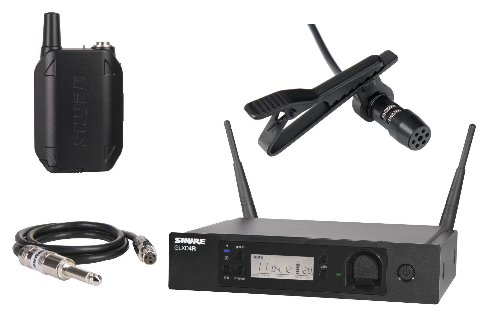 Shure GLXD14R Digital Funksystem Set inkl. LA 30 Lavaliermikrofon