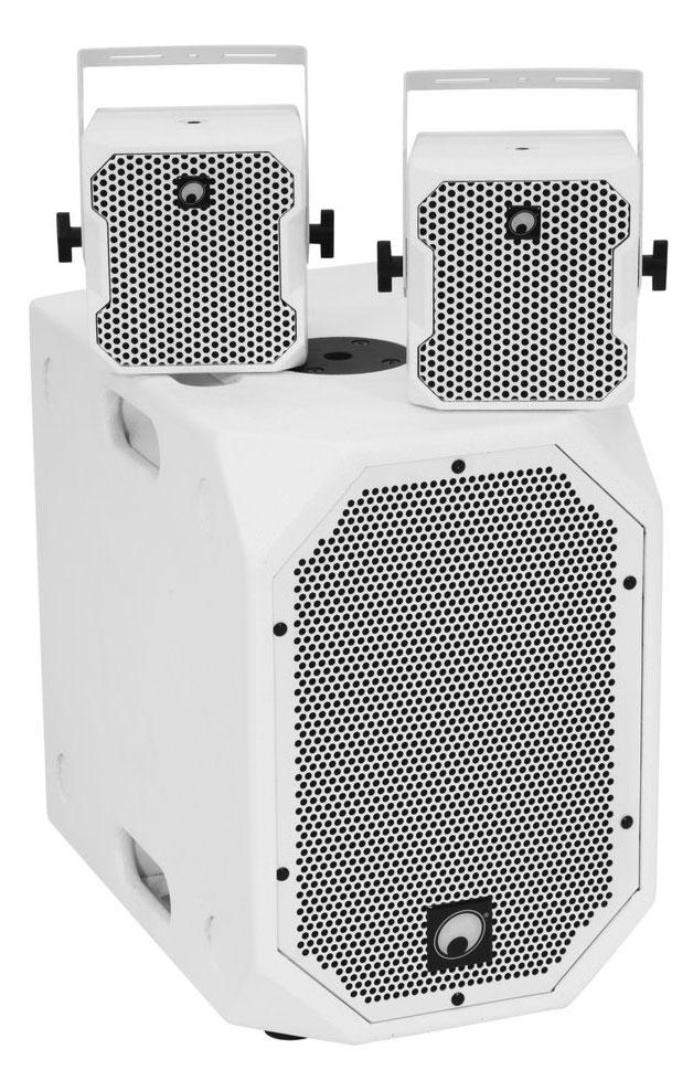 Boxenkomplettanlagen - Omnitronic BOB 2.1 Satelliten Set Weiß - Onlineshop Musikhaus Kirstein