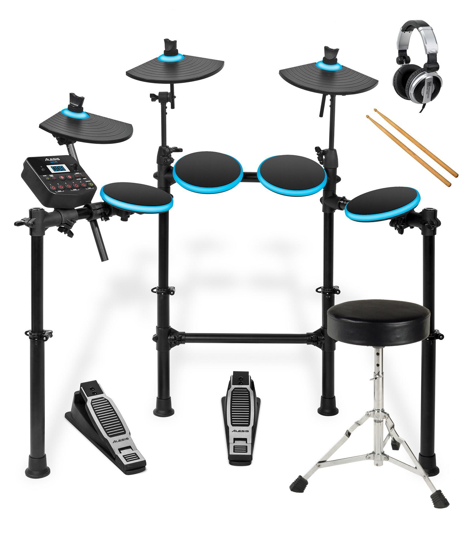 Alesis DM Lite Kit E Drum Set mit Hocker, Kopfhörer und Sticks