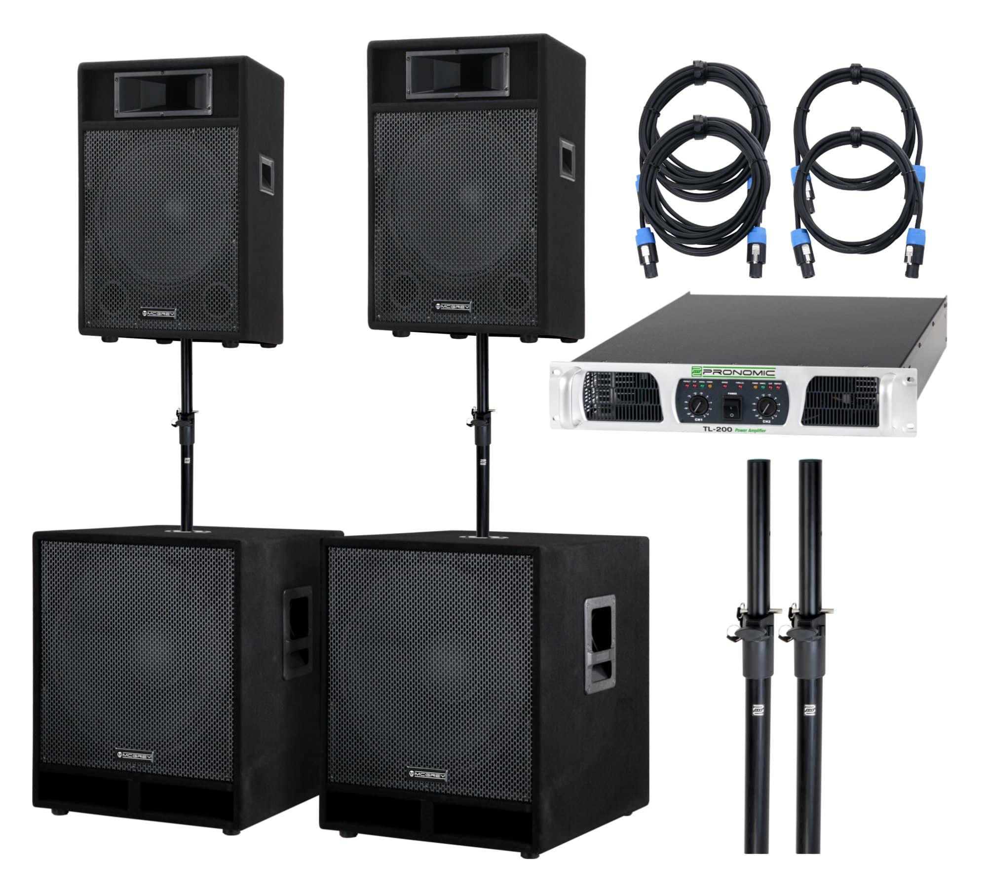 Boxenkomplettanlagen - McGrey Powerstage 4400 PA Anlage 4400 Watt - Onlineshop Musikhaus Kirstein