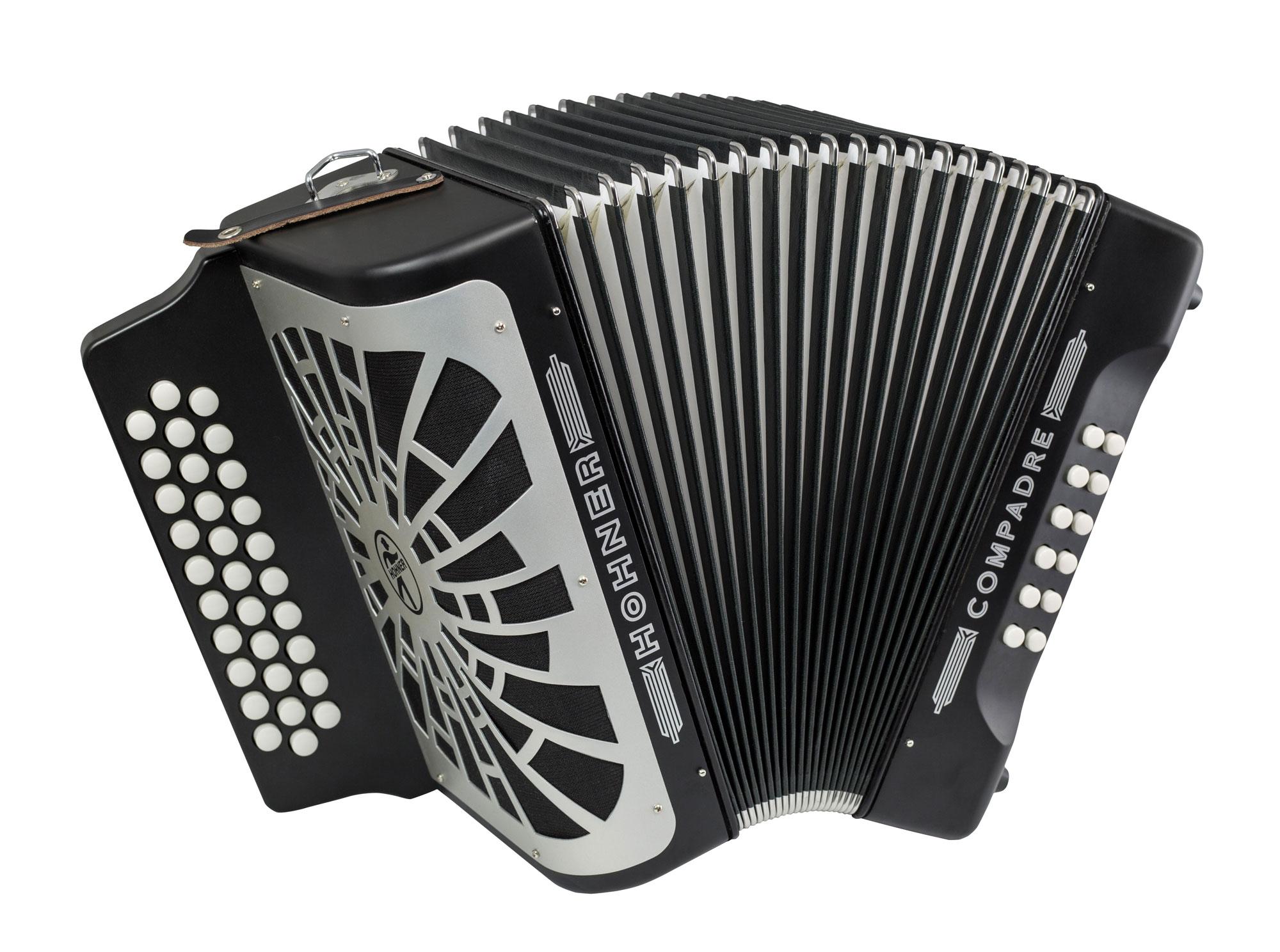 Akkordeons - Hohner Compadre G C F Harmonika Schwarz - Onlineshop Musikhaus Kirstein