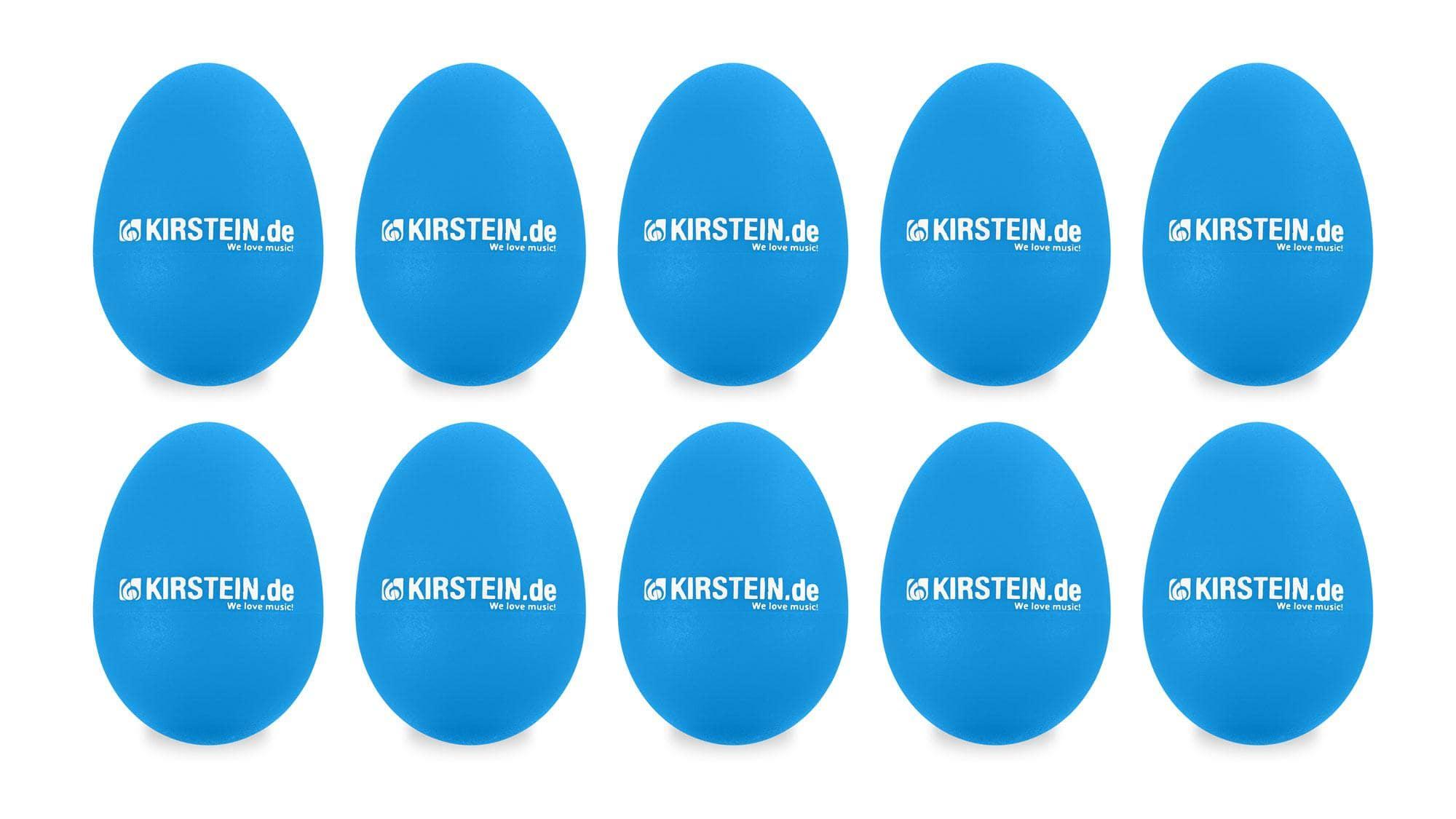10x Kirstein ES 10B Egg Shaker blau Medium Set