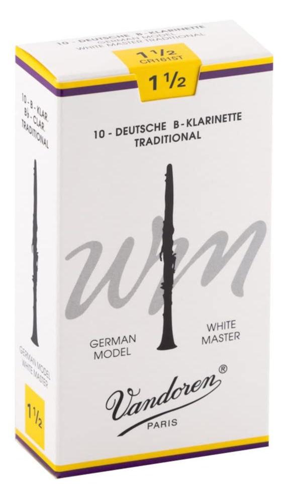Blaeserzubehoer - Vandoren White Master WM Tradional Bb Klarinette Blätter (1,5) 10er Pack - Onlineshop Musikhaus Kirstein