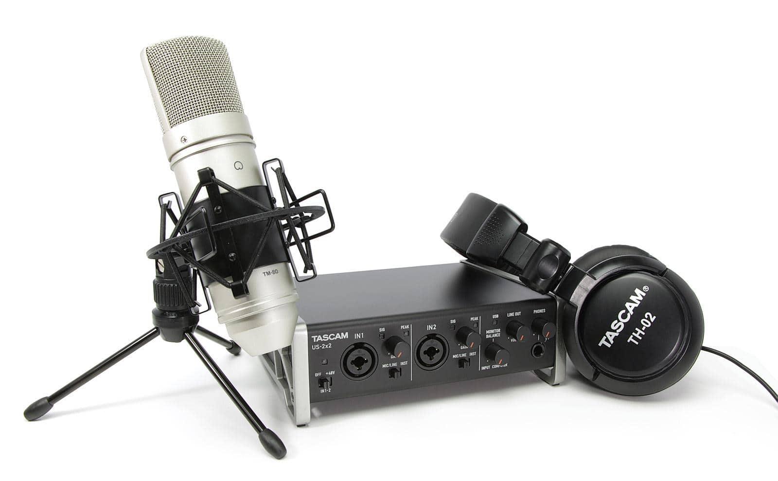 Tascam TRACKPACK 2x2 USB Recording SET inkl. Mikrofon und Kopfhörer