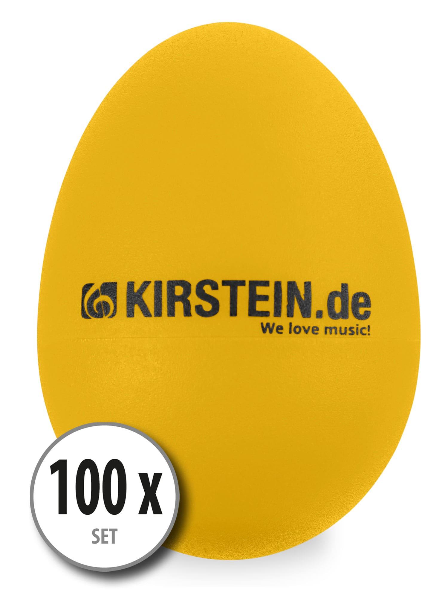 100x Kirstein ES 10Y Egg Shaker gelb Heavy Set
