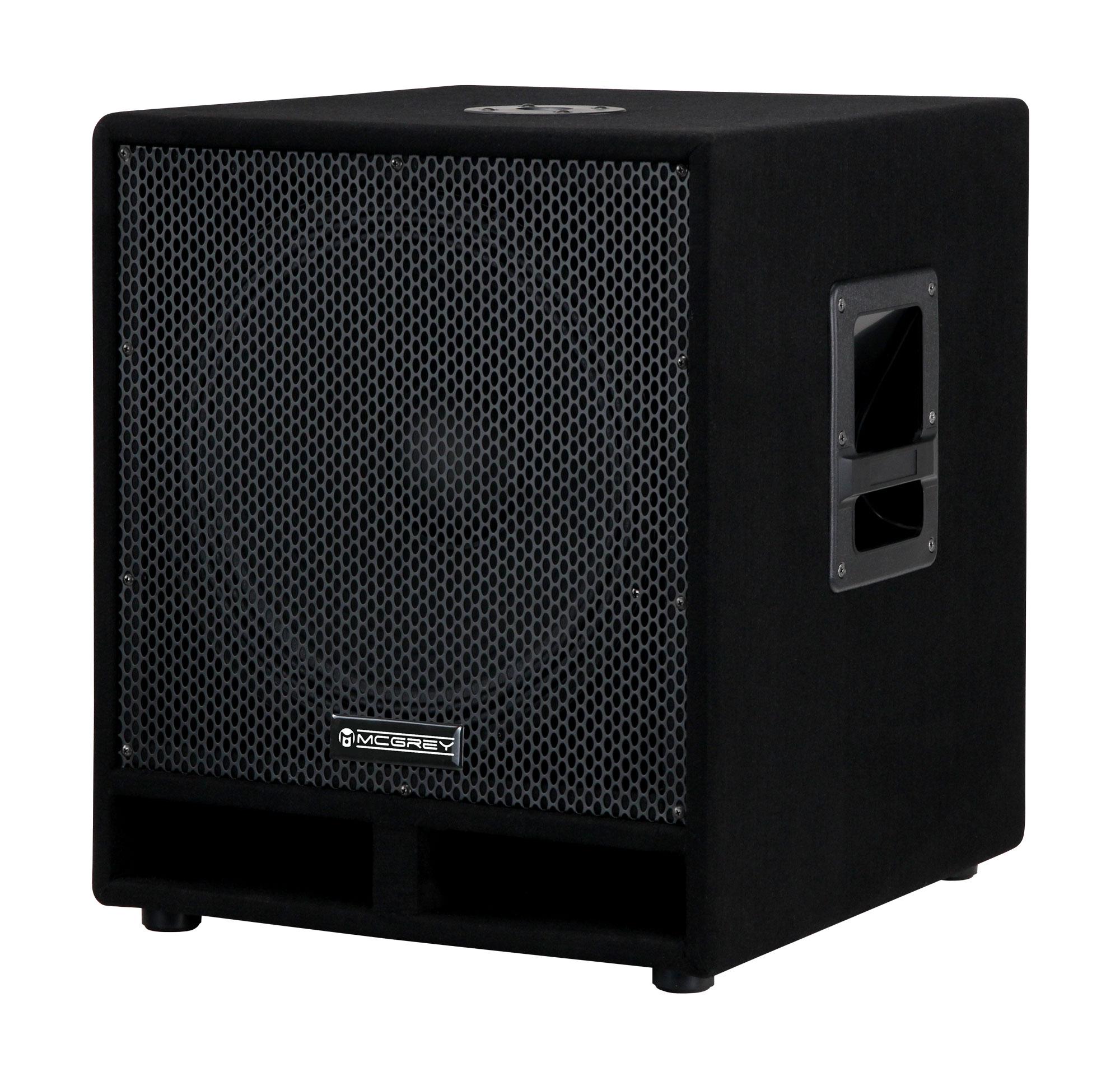 Paendstufen - McGrey PAS 115 15' passiver PA Subwoofer Bass Lautsprecher Box 1200 Watt Retoure (Zustand akzeptabel) - Onlineshop Musikhaus Kirstein