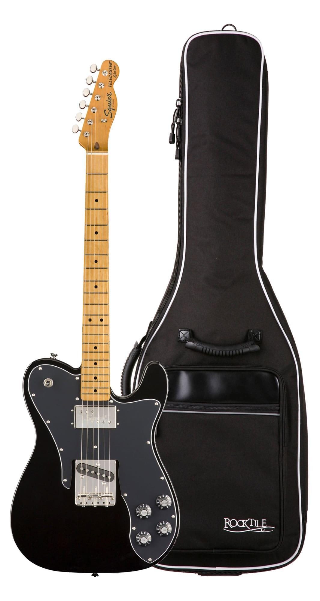 Egitarren - Fender Squier Classic Vibe '70s Tele Custom MN BLK Gigbag Set - Onlineshop Musikhaus Kirstein
