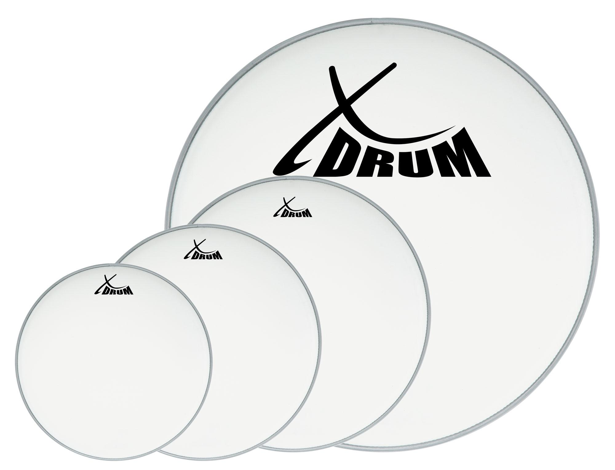 xdrum coated drum head set 10 12 14 22. Black Bedroom Furniture Sets. Home Design Ideas