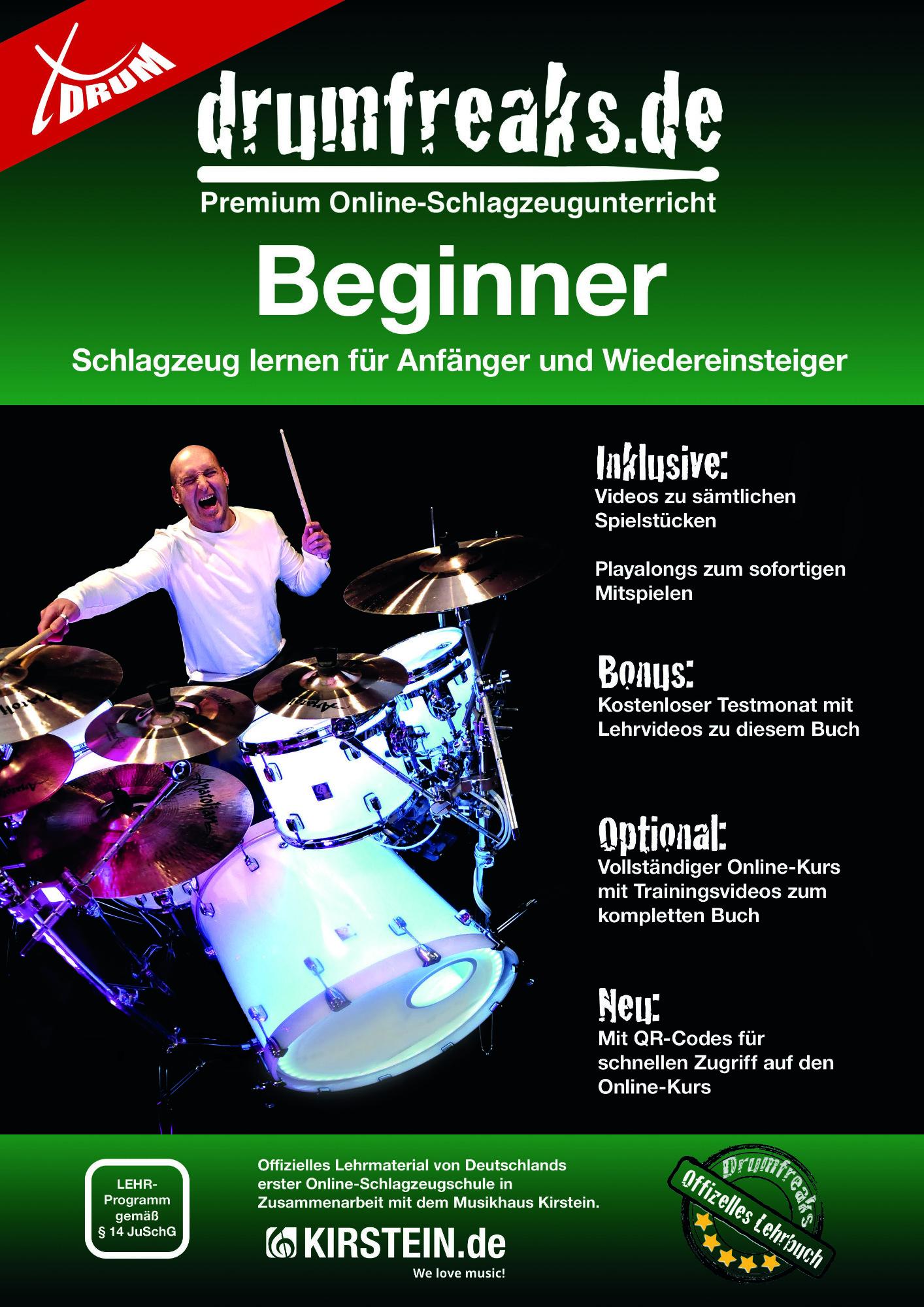 Drumslernen - Michael Christoph Schlagzeugschule 'Beginner' - Onlineshop Musikhaus Kirstein