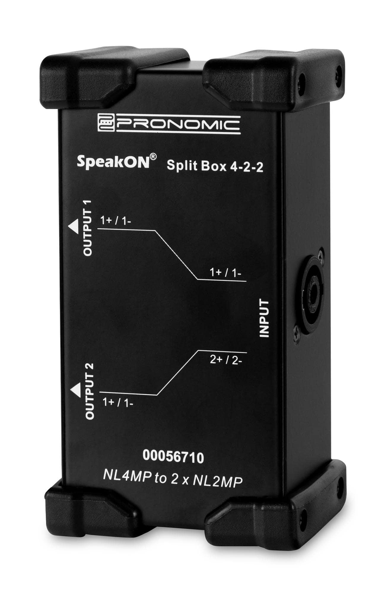 Diboxen - Pronomic Speakon Split Box 4 2 2 - Onlineshop Musikhaus Kirstein