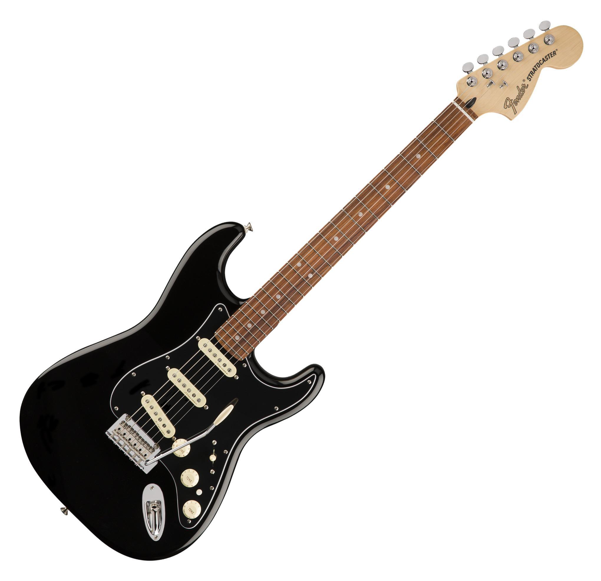 Egitarren - Fender Deluxe Strat PF BLK - Onlineshop Musikhaus Kirstein