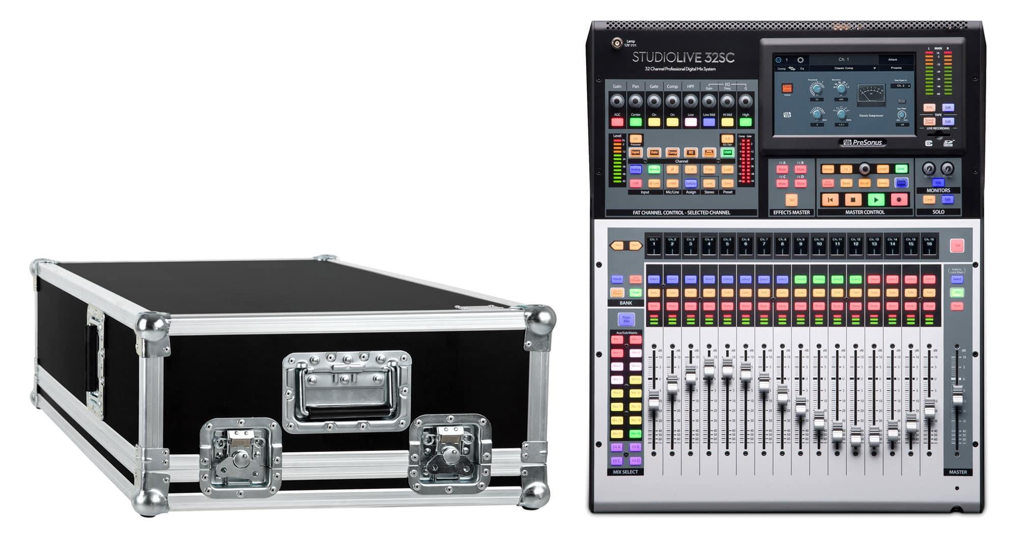 Mischpulte - PreSonus StudioLive 32SC Set mit Case - Onlineshop Musikhaus Kirstein