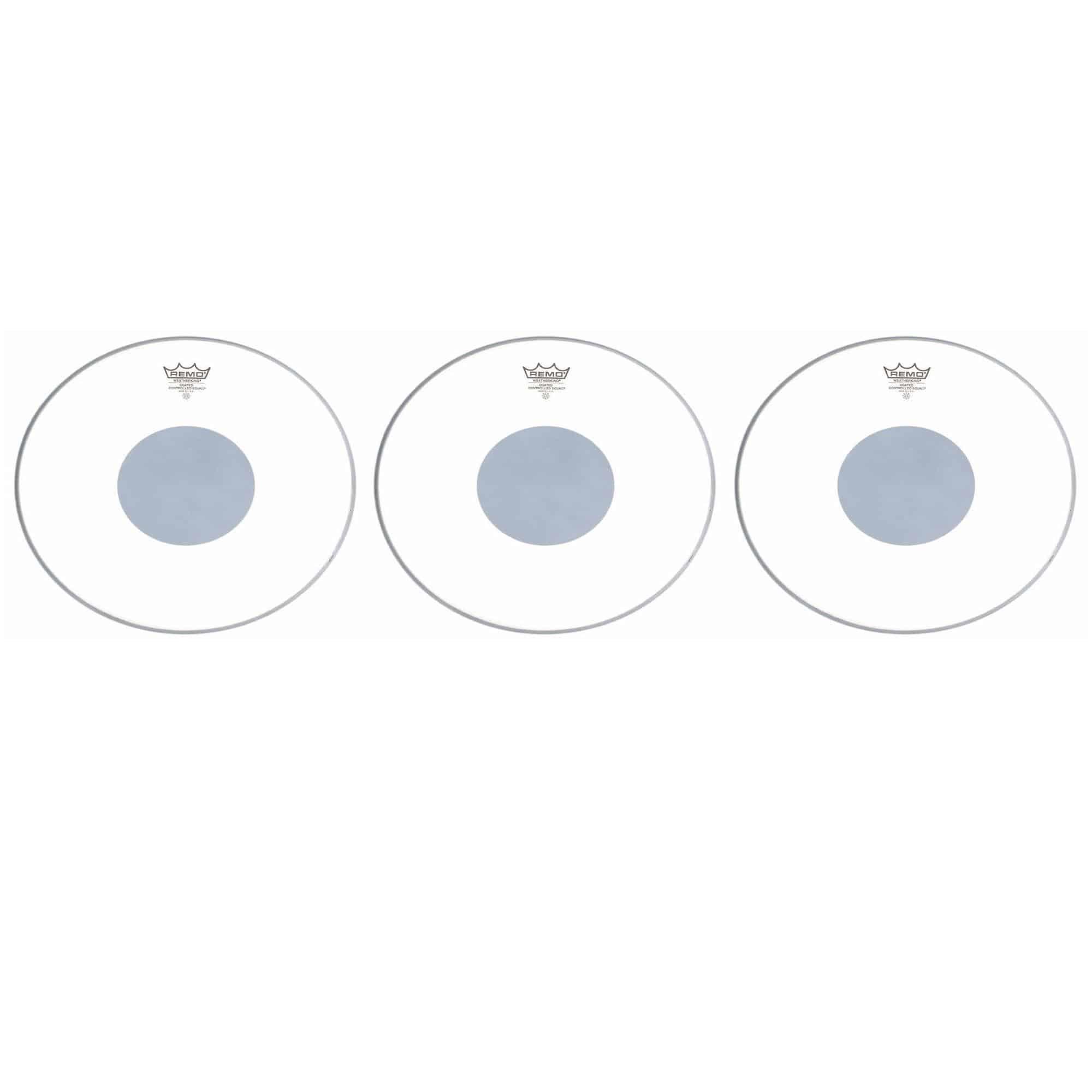 Remo 14' CS Coated Black Dot Fell 3x Set