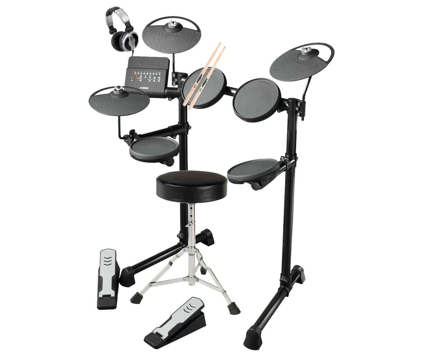 yamaha dtx400k e drum set inkl drumhocker kopfh rer. Black Bedroom Furniture Sets. Home Design Ideas