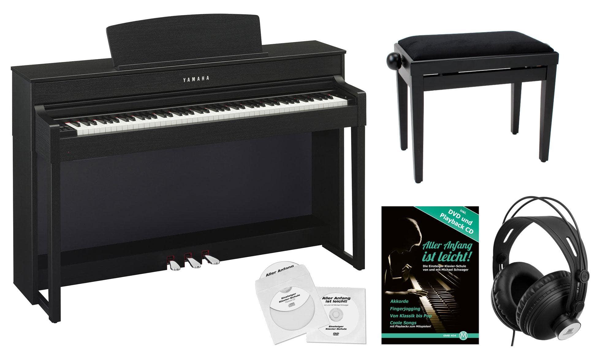 yamaha clp 545 b digitalpiano schwarznuss set. Black Bedroom Furniture Sets. Home Design Ideas