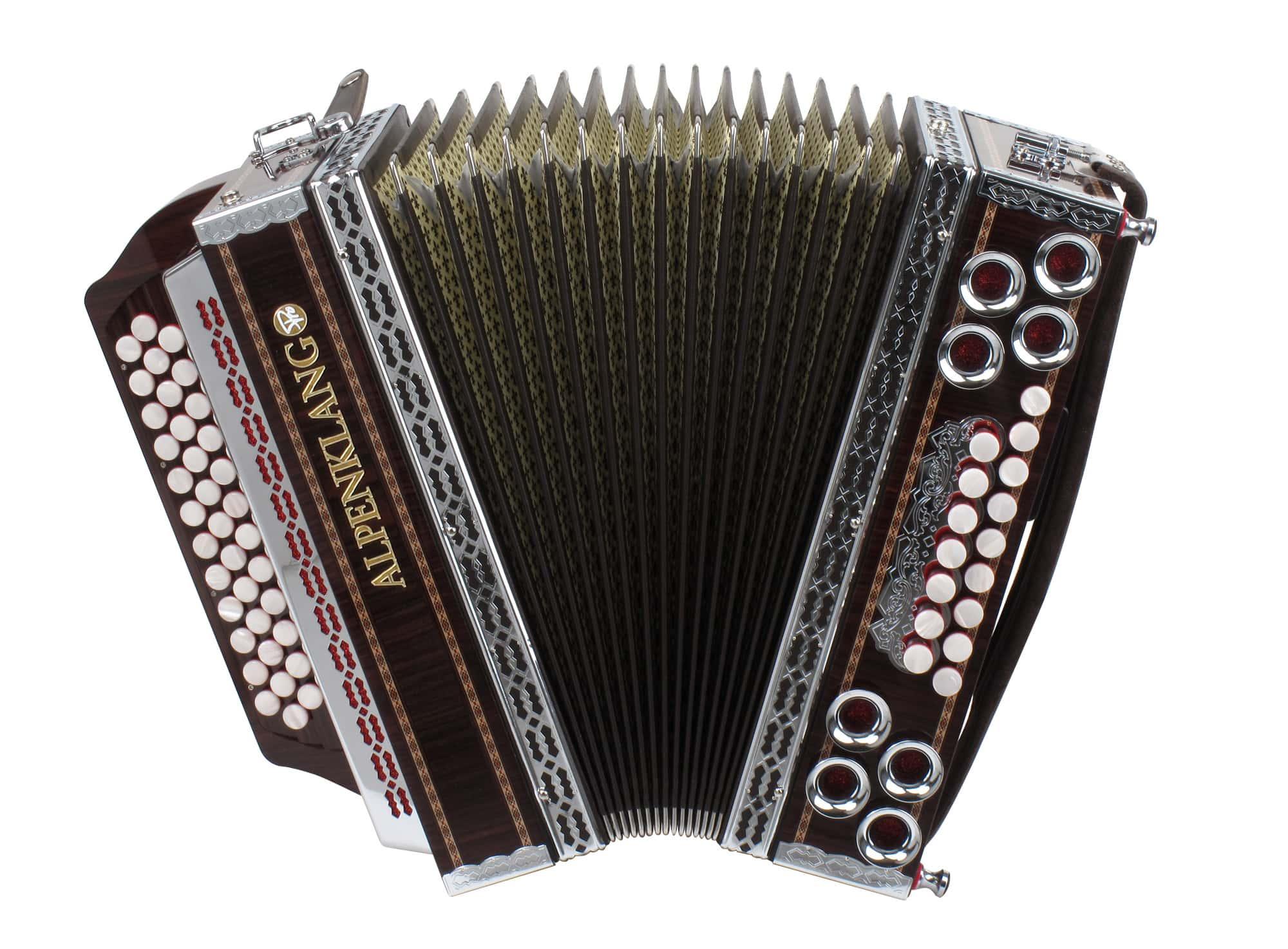 "Alpenklang Pro ""Deluxe"" Harmonika 4-reihig, 3-chörig"