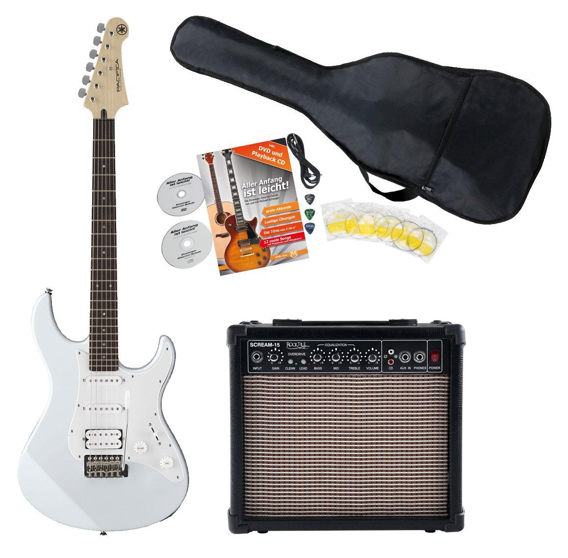 Egitarren - Yamaha Pacifica 012 VW White E Gitarre Starter Set - Onlineshop Musikhaus Kirstein