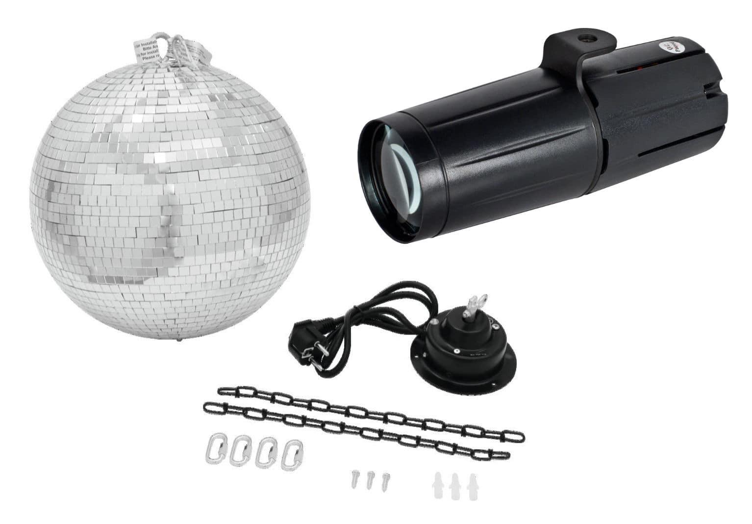 Lichtsets - ADJ Pinspot LED II Spiegelkugel Set - Onlineshop Musikhaus Kirstein